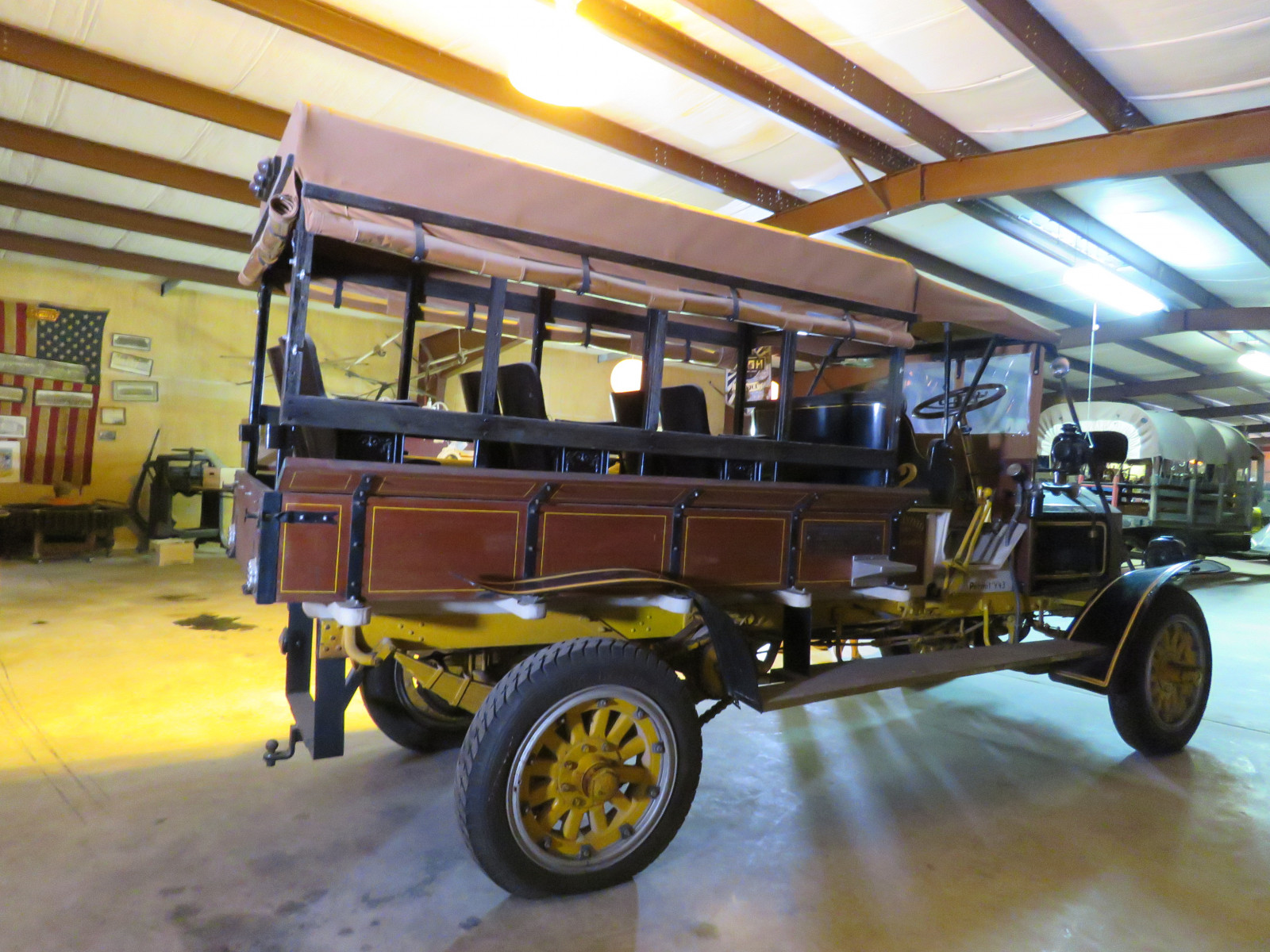 RARE 1910 Knox Open Cab Stakebed Truck - Image 13