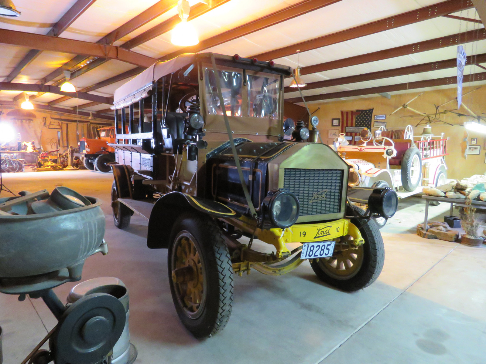RARE 1910 Knox Open Cab Stakebed Truck - Image 3