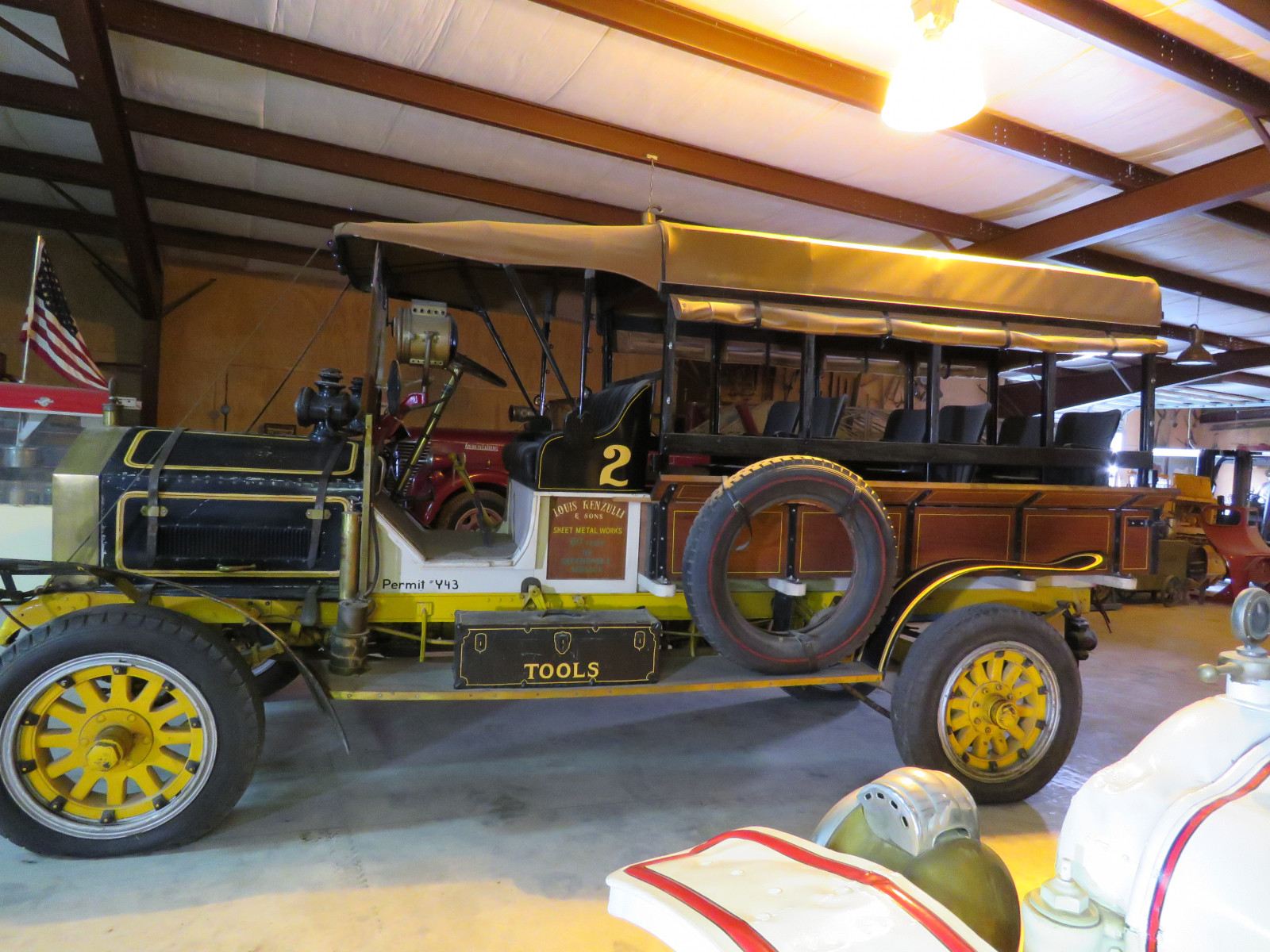 RARE 1910 Knox Open Cab Stakebed Truck - Image 4