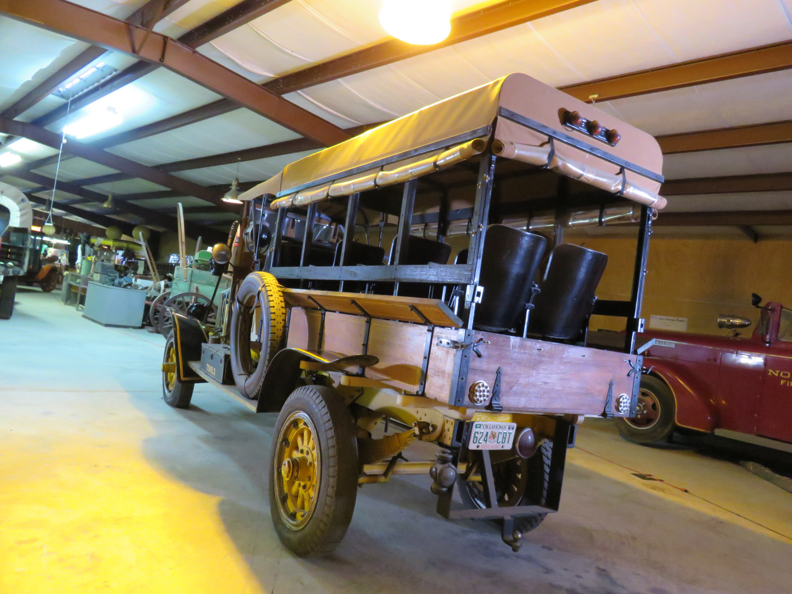 RARE 1910 Knox Open Cab Stakebed Truck - Image 5