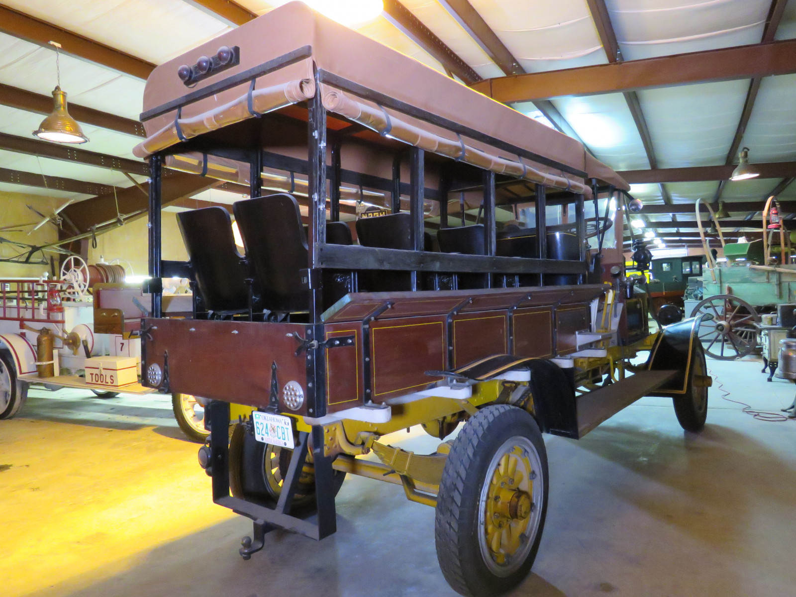 RARE 1910 Knox Open Cab Stakebed Truck - Image 7