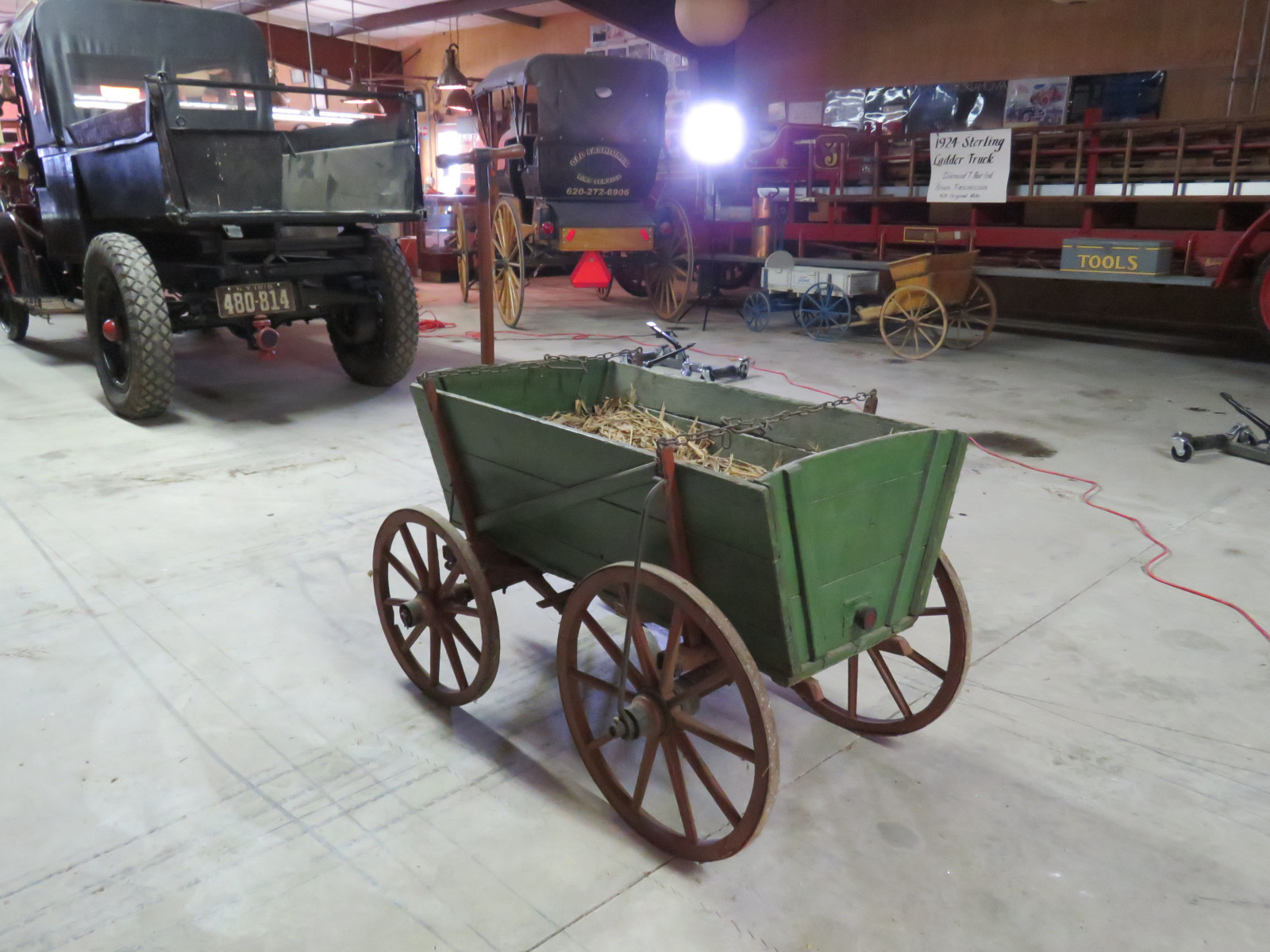 Vintage Wooden Wheel Wagon - Image 1