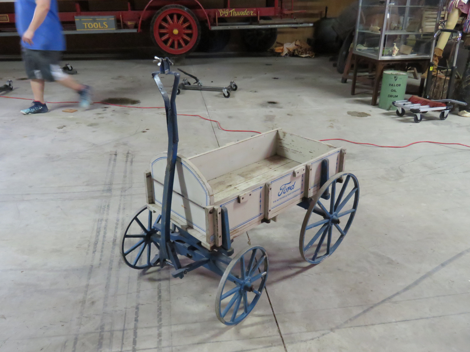 Small Wooden Wagon with Ford Script - Image 1