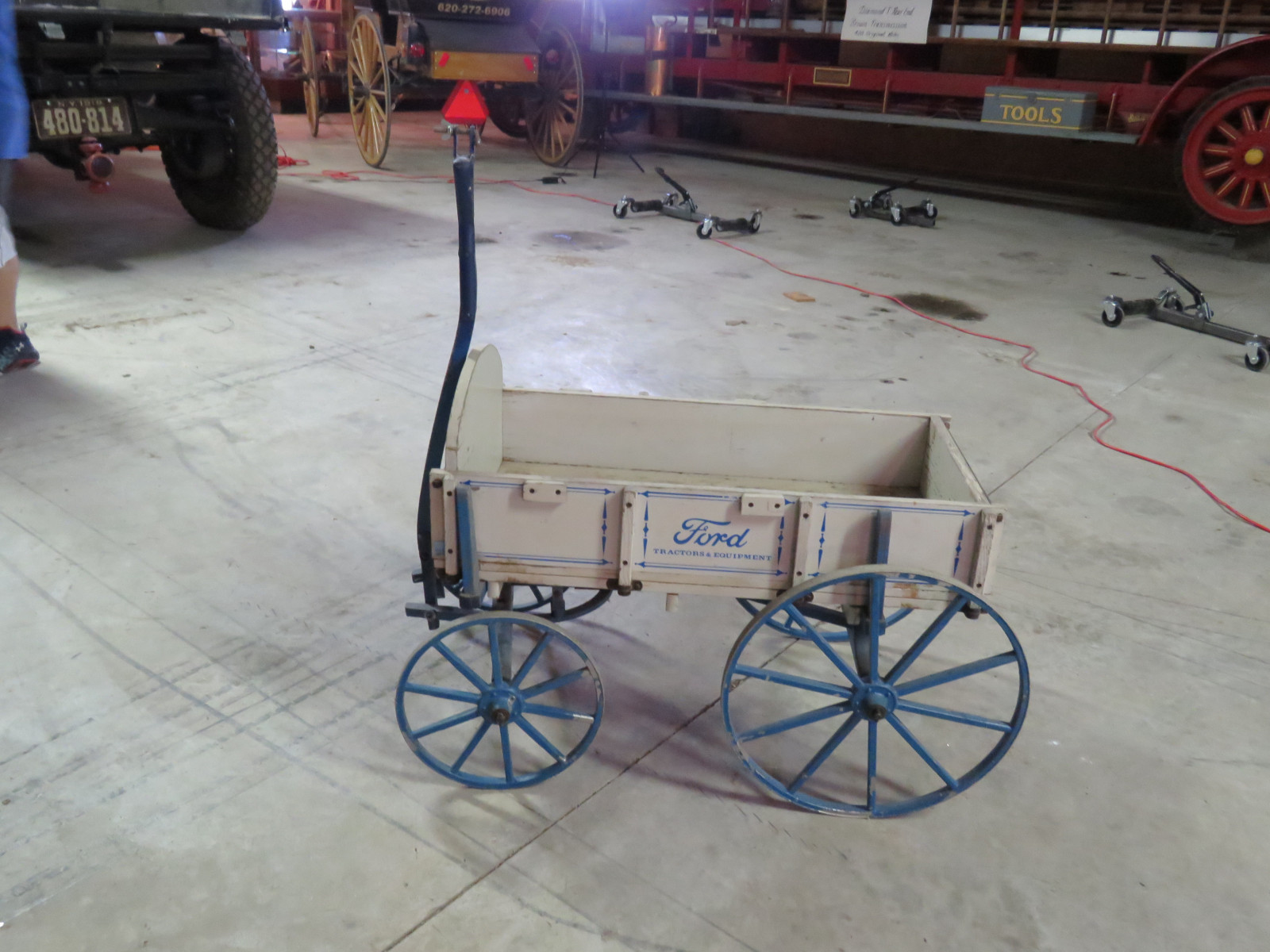 Small Wooden Wagon with Ford Script - Image 3
