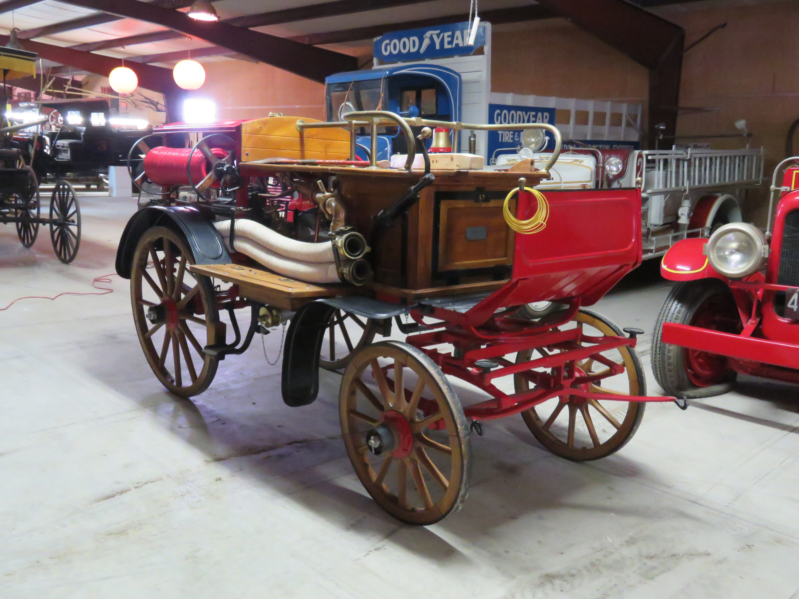 Early 1900's Konrad Rosenbauer Horse Drawn  Fire Engine- Pumper Cart - Image 2