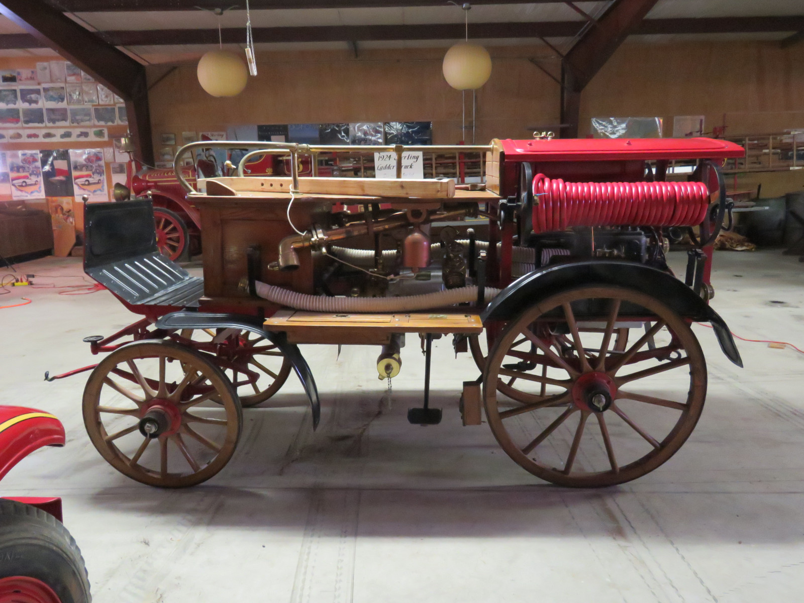 Early 1900's Konrad Rosenbauer Horse Drawn  Fire Engine- Pumper Cart - Image 4