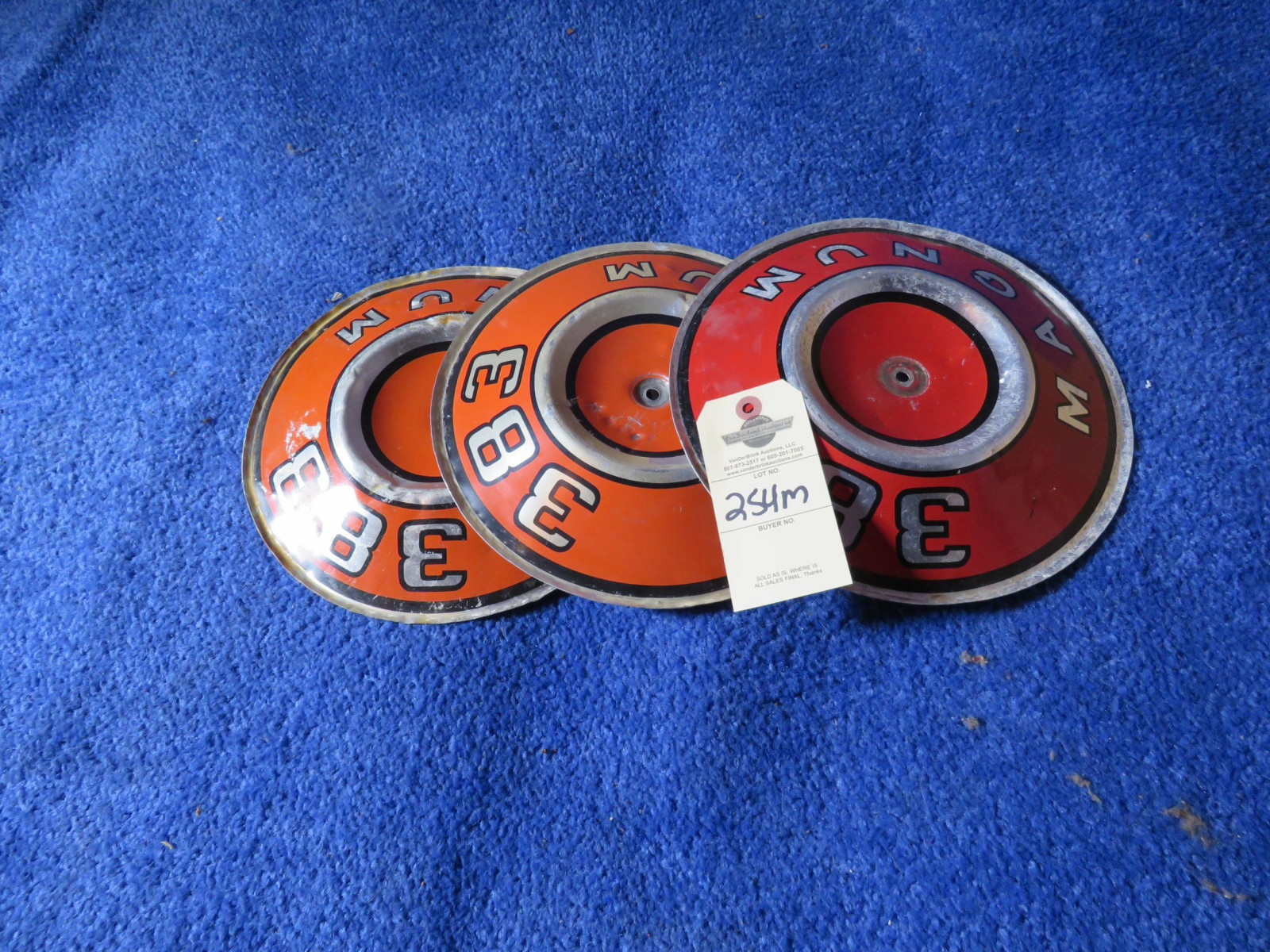 3 MOPAR 383 Air Cleaner Emblems - Image 1