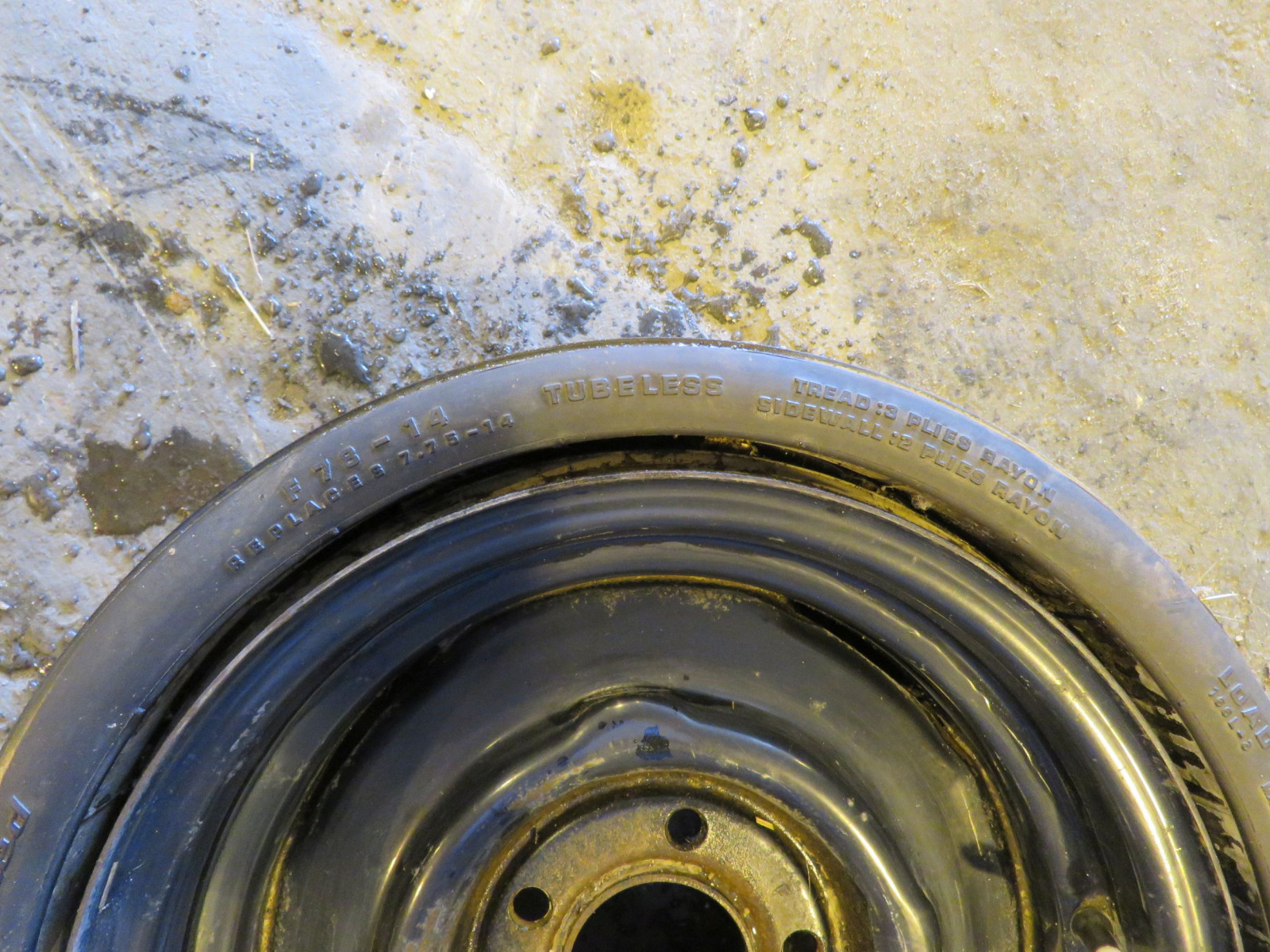 RARE BF Goodrich Collapsible Spare Tire for 426 HEMI CUDA, Challenger - Image 2