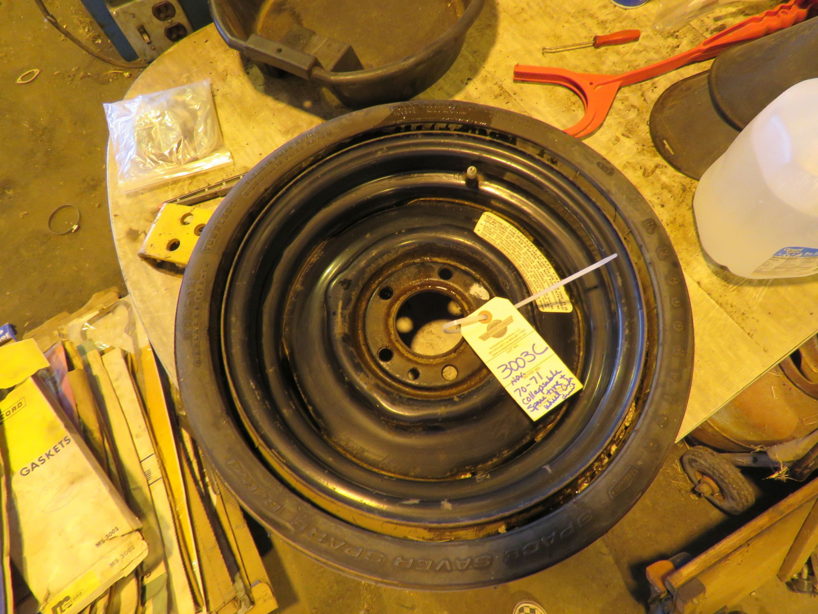 RARE BF Goodrich Collapsible Spare Tire for 426 HEMI CUDA, Challenger - Image 3