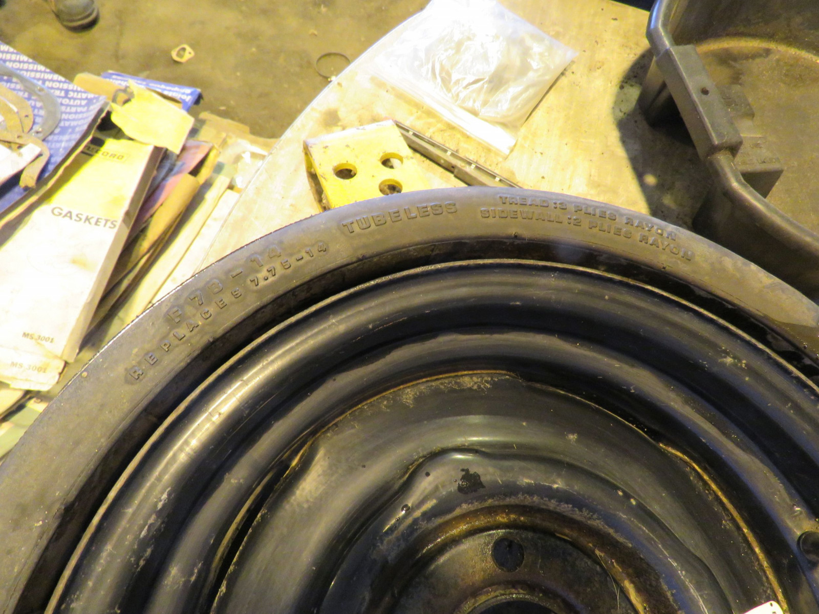 RARE BF Goodrich Collapsible Spare Tire for 426 HEMI CUDA, Challenger - Image 4