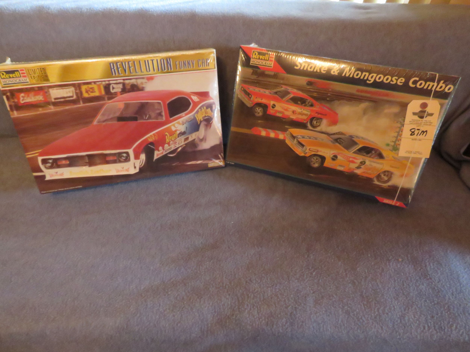 Revell Limited Edition NIB Snake and Mongoose Funny Car Combo pack Model  ALONG with Revell NIB Revellution Funny Car Model - Image 1