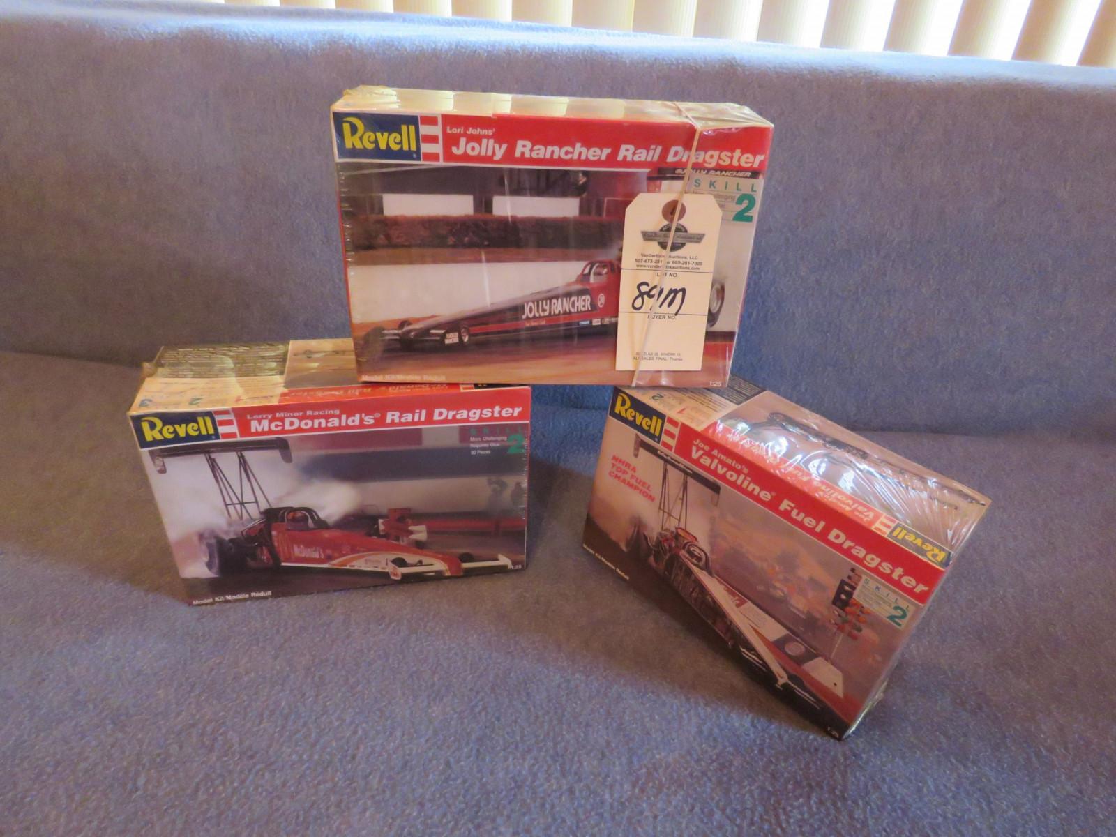 Lot 89M – 3- Revell Dragster Models NIB   VanderBrink Auctions