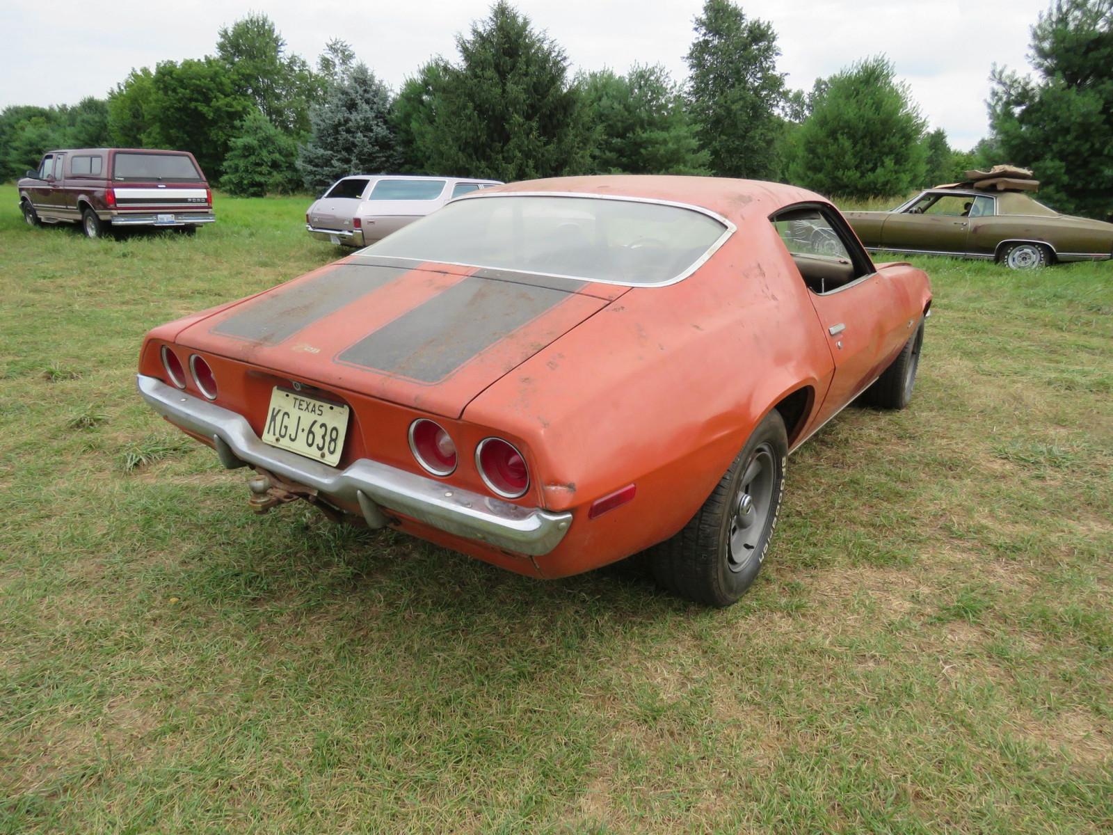 Lot 34V – 1972 Chevrolet Z28 Camaro Coupe | VanderBrink Auctions