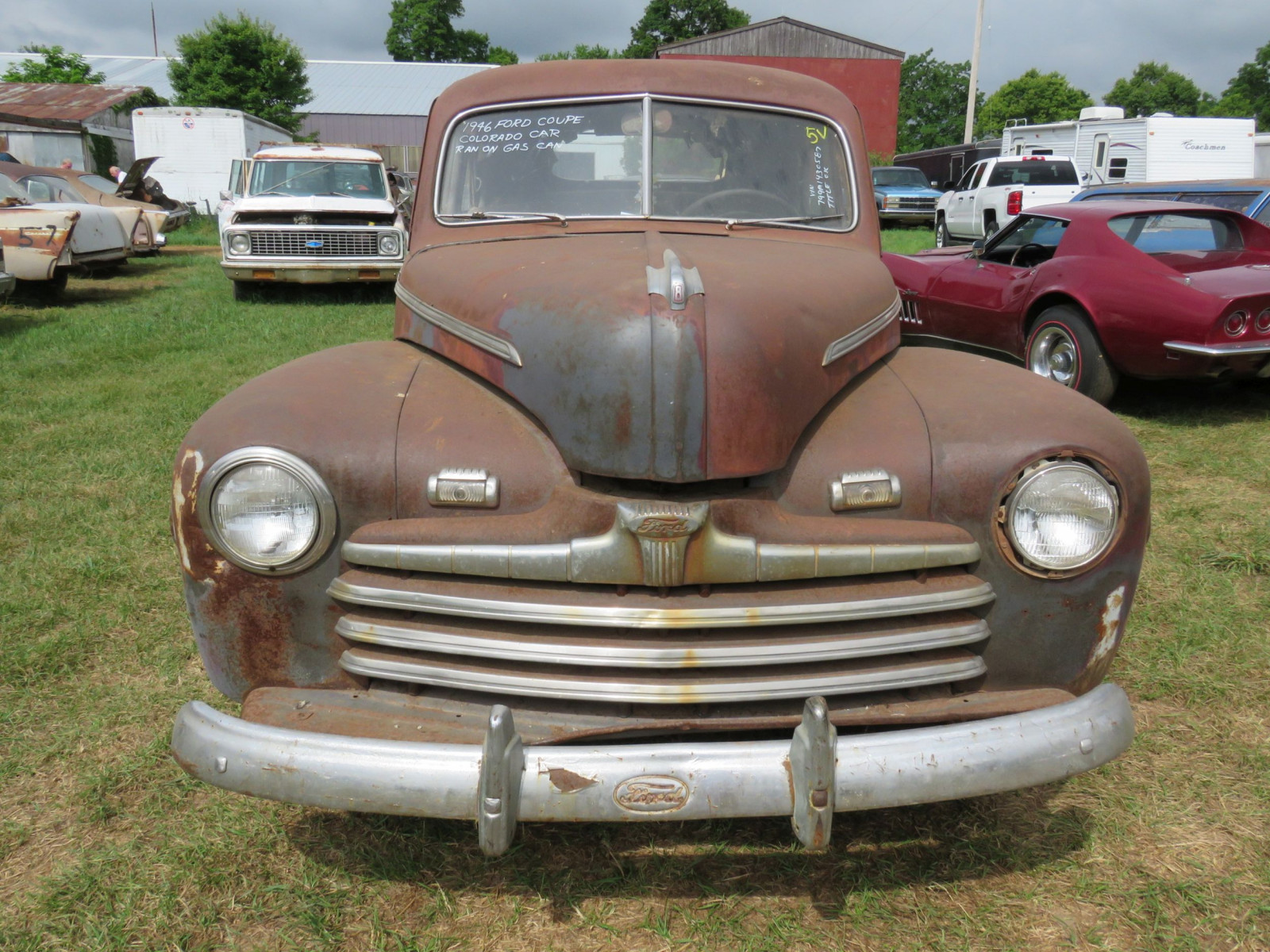 1946 Ford Super Deluxe Coupe Ford for Rod or Restore - Image 2