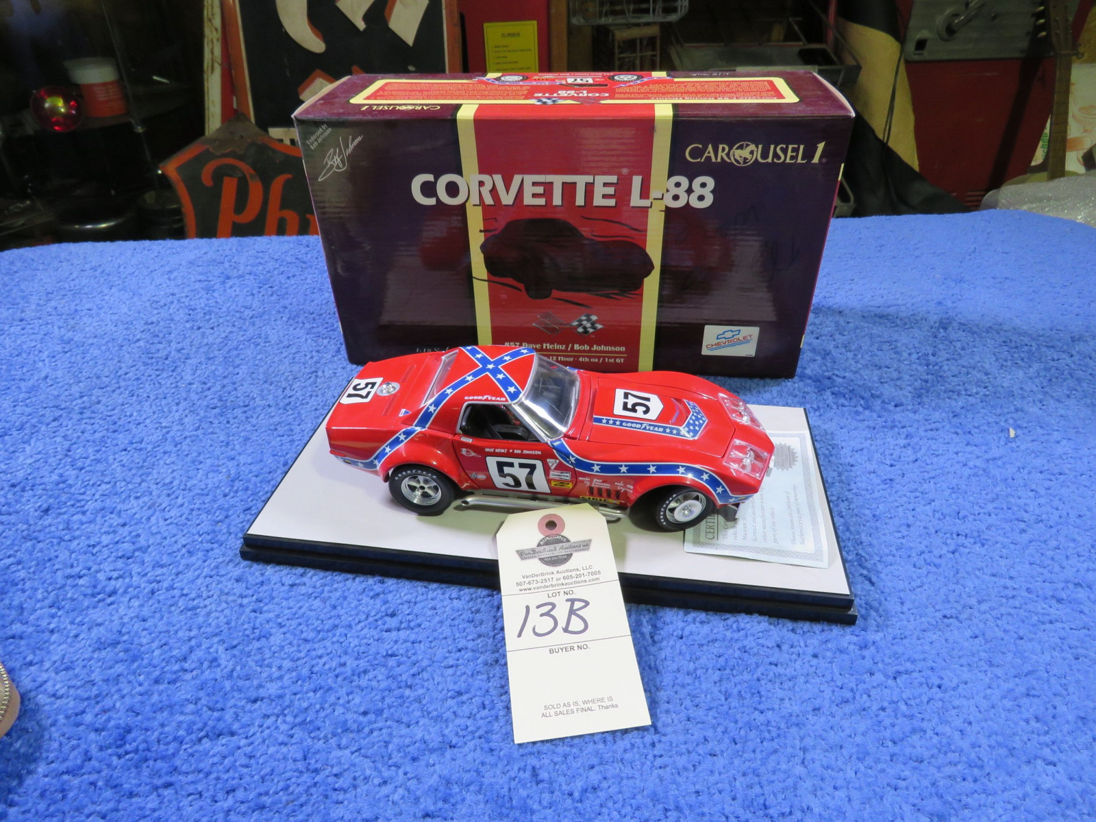 Chevrolet L88 Corvette #57 Dave Heinz 1/18th Scale Model - Image 1