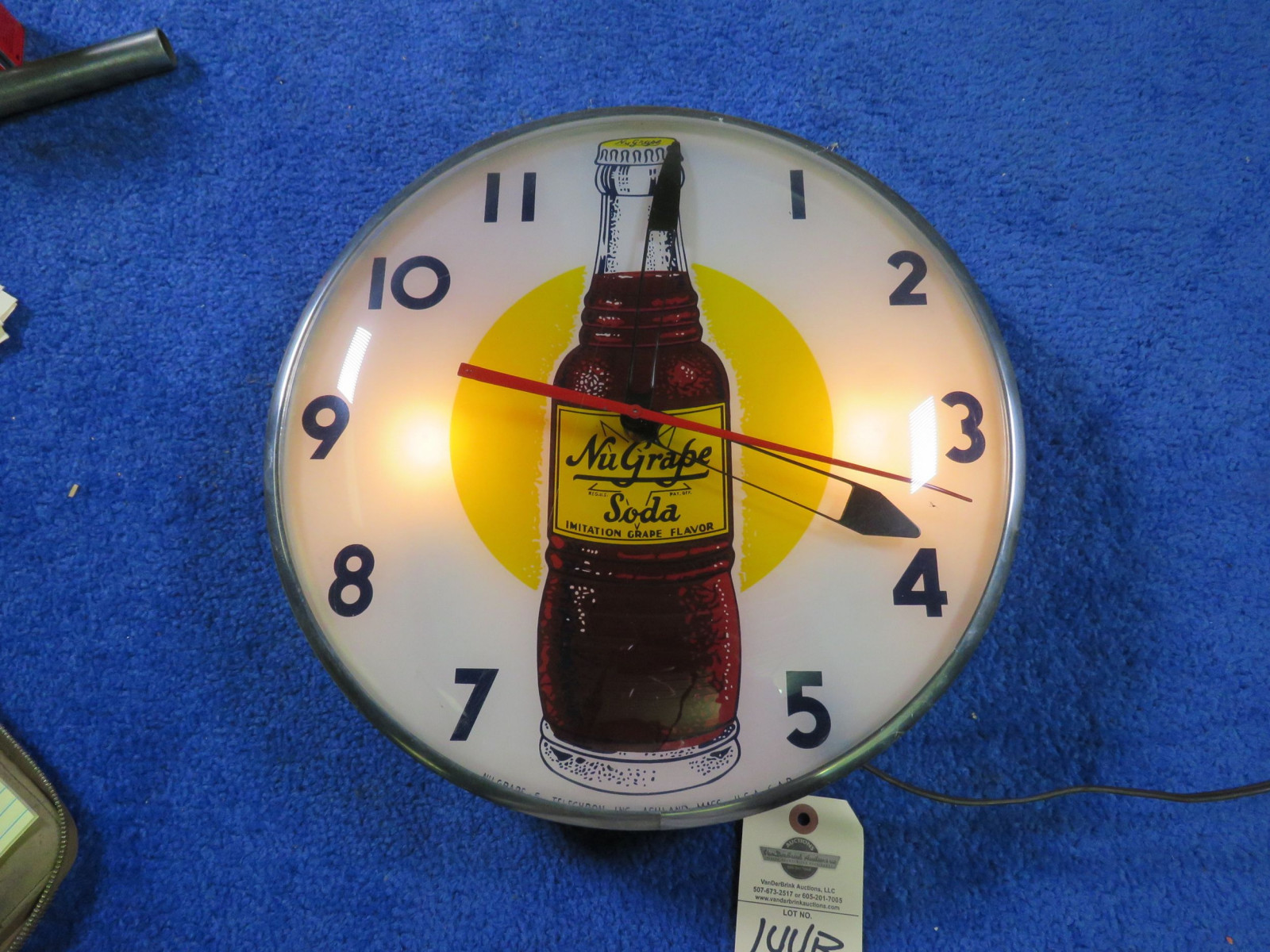Vintage Nu-Grape Clock - Image 1