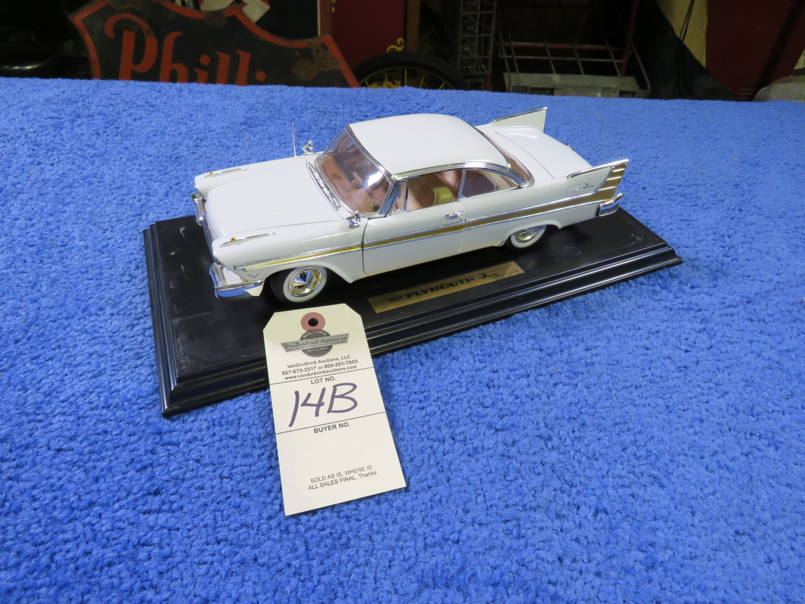 1957 Plymouth Fury Diecast Toy - Image 1