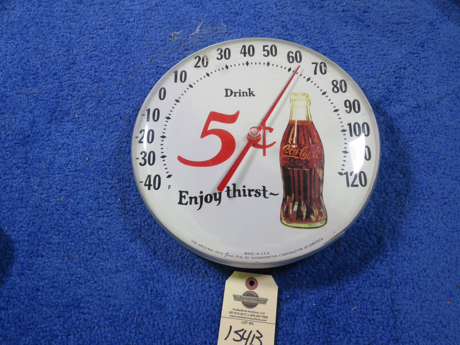 Reproduction Coca Cola Thermometer - Image 1
