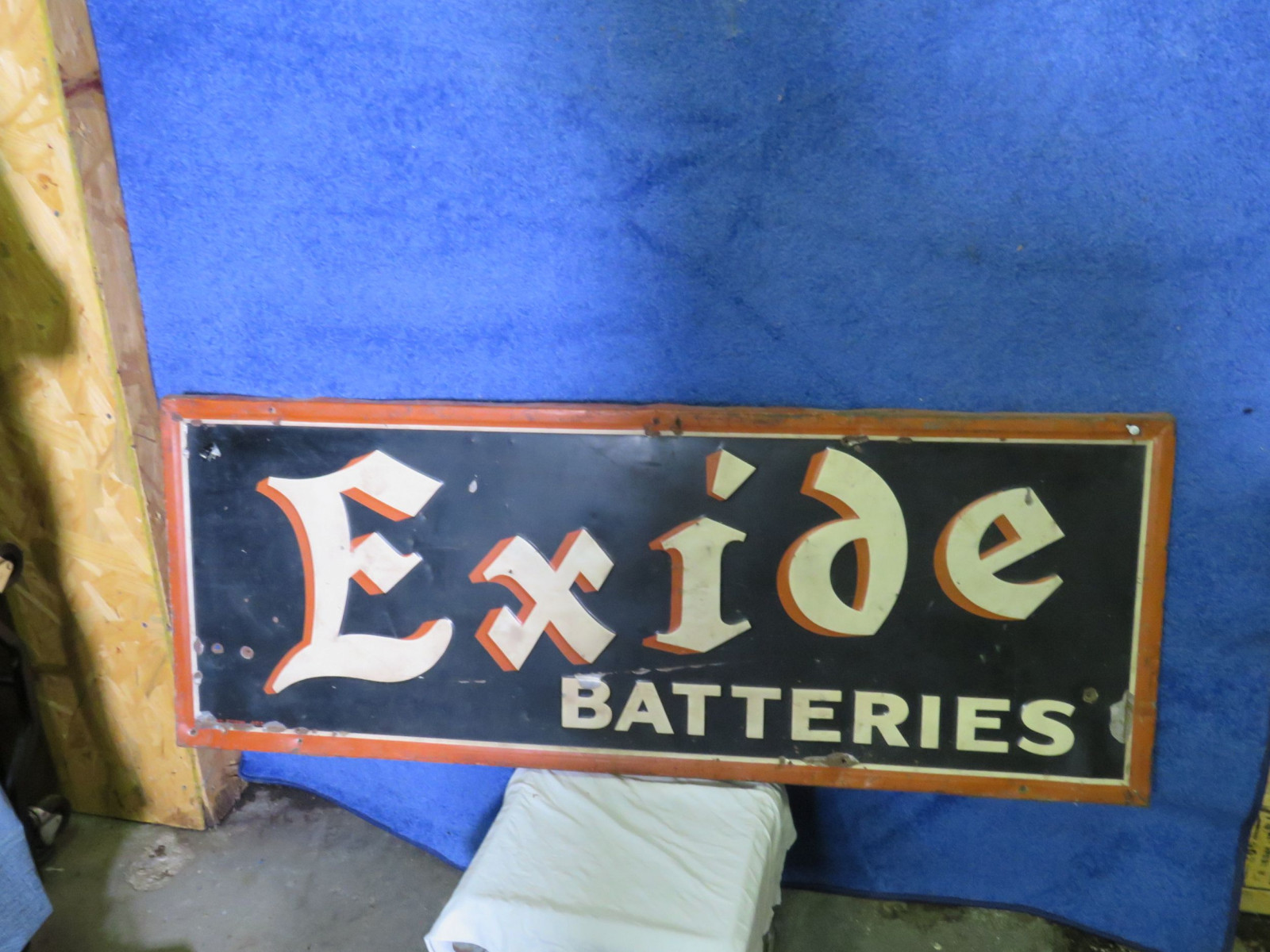 Excide BatteriesPainted Tin Sign - Image 2