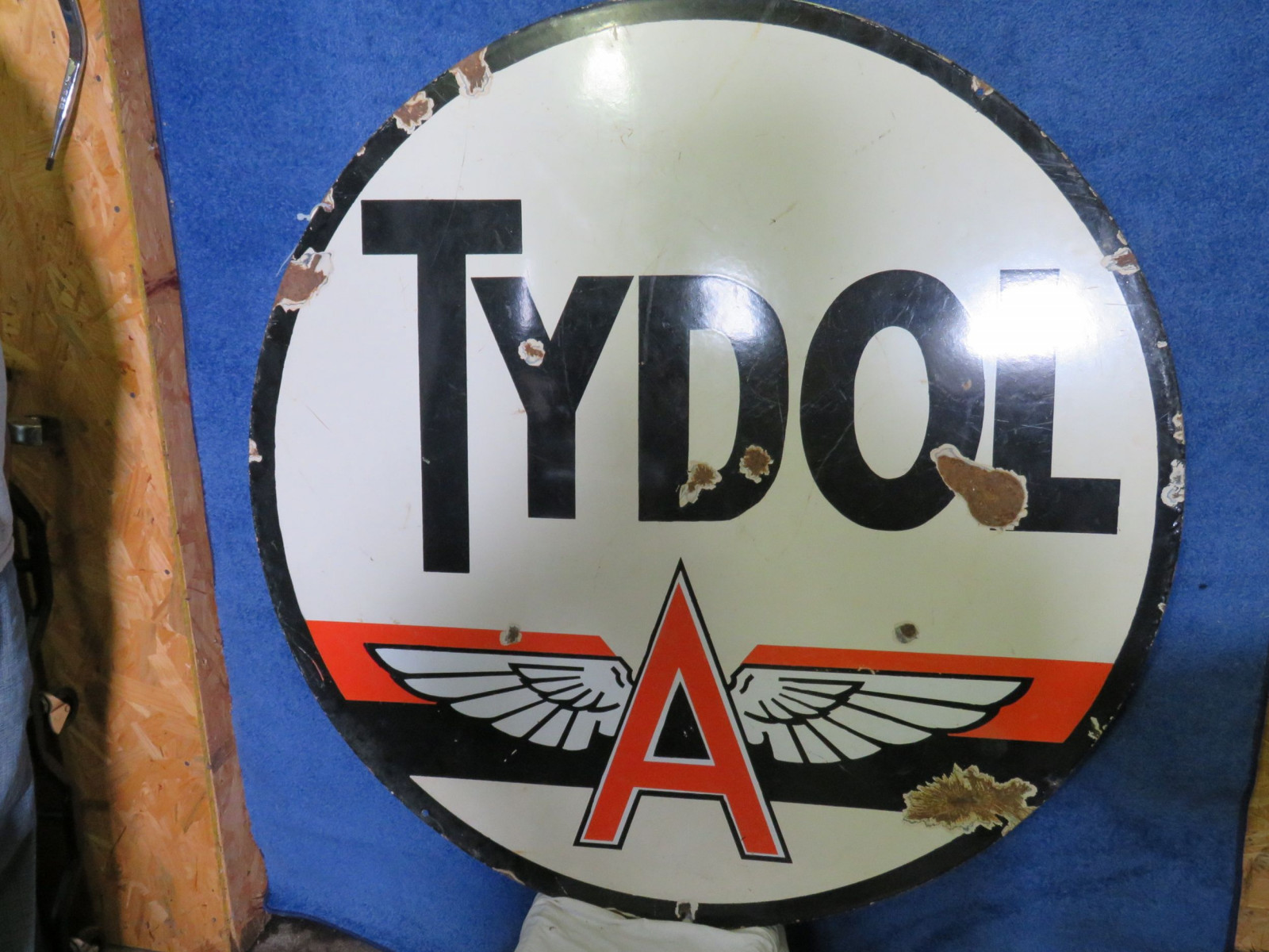 Tydol Flying A DS Porcelain Sign - Image 2