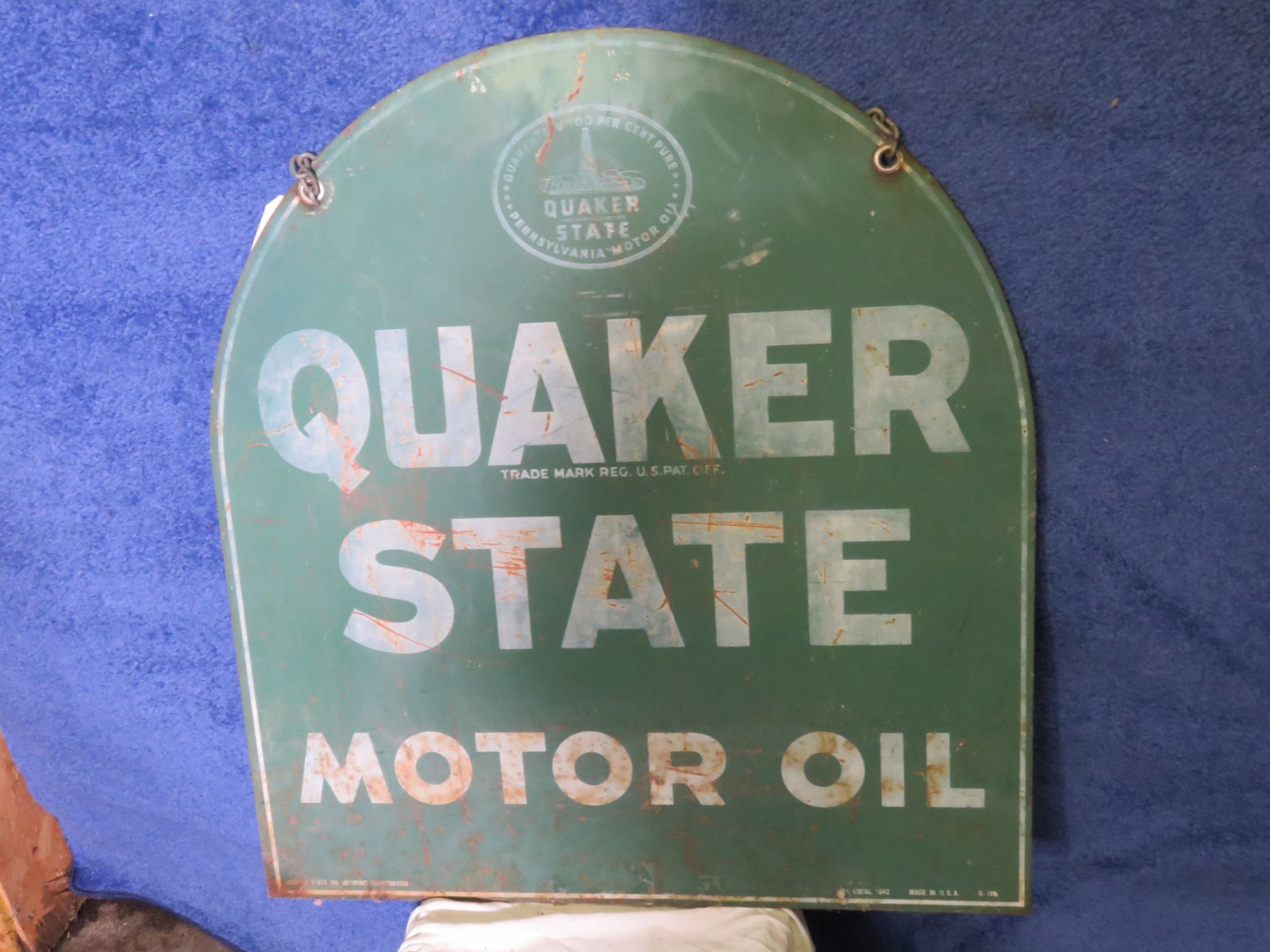 Quaker State DS Painted Tin Sign - Image 4