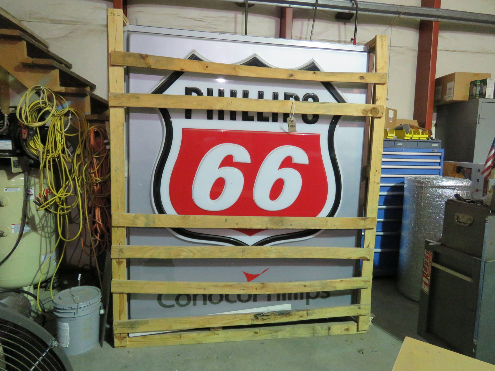 Phillips 66 DS Plastic Lighted Sign - Image 1