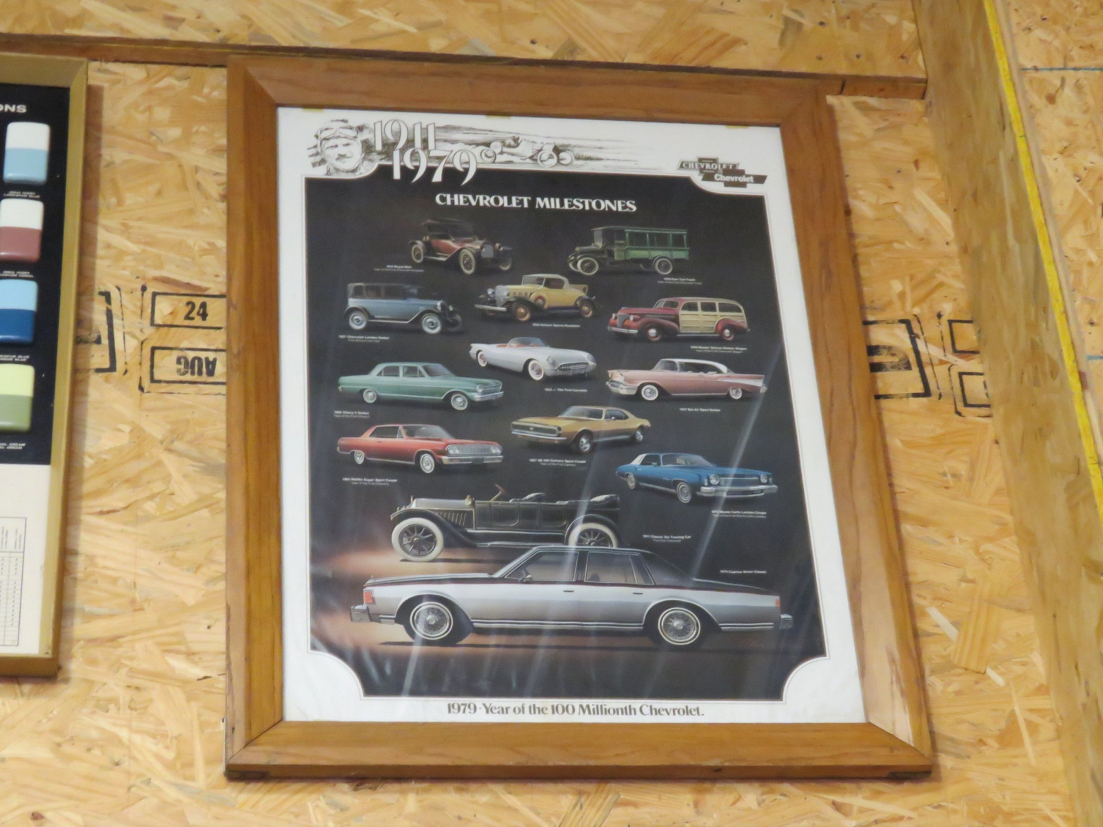 1911-1979 Framed Car Poster - Image 1