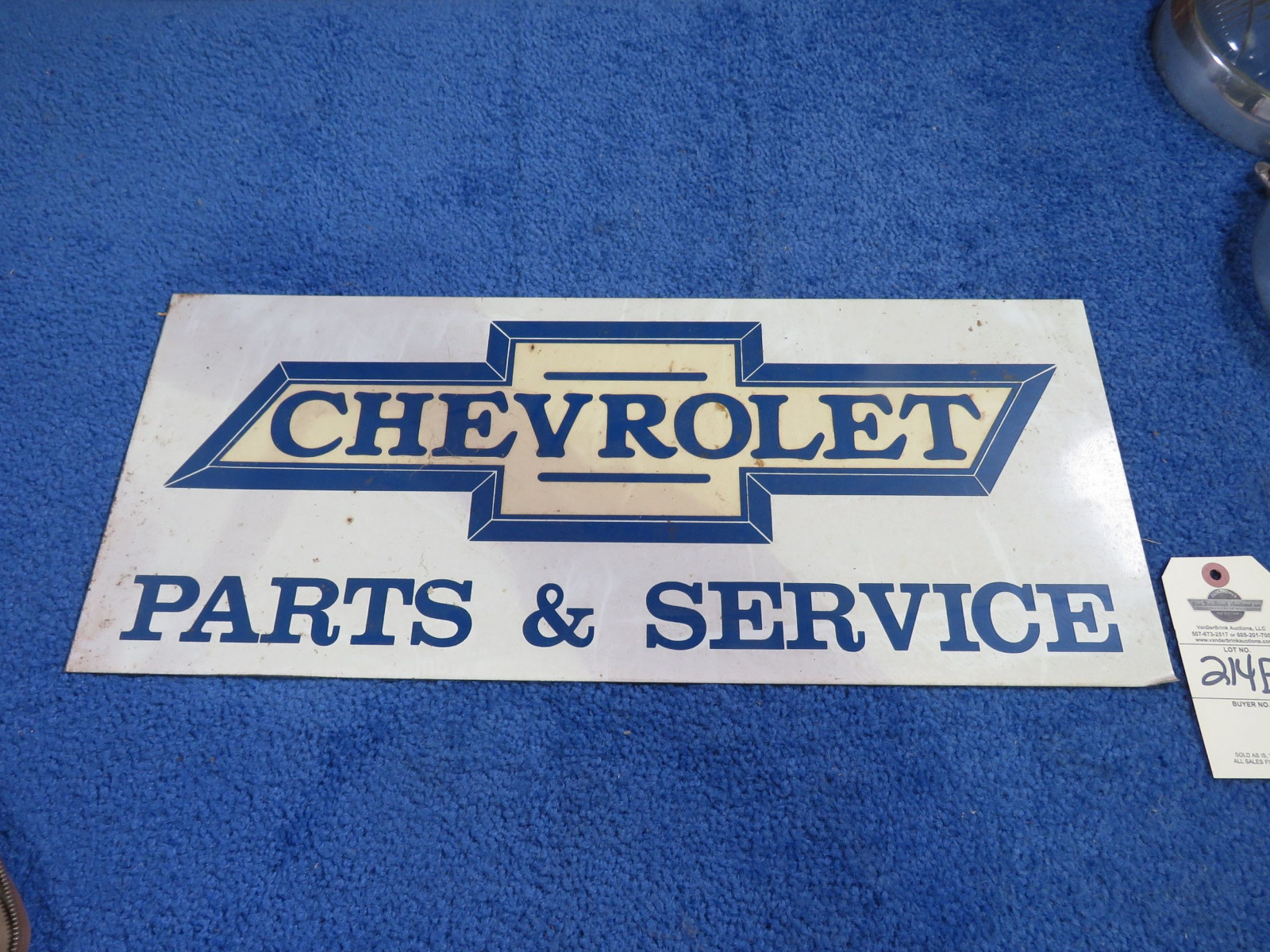 Chevrolet Sign Painted - Image 1