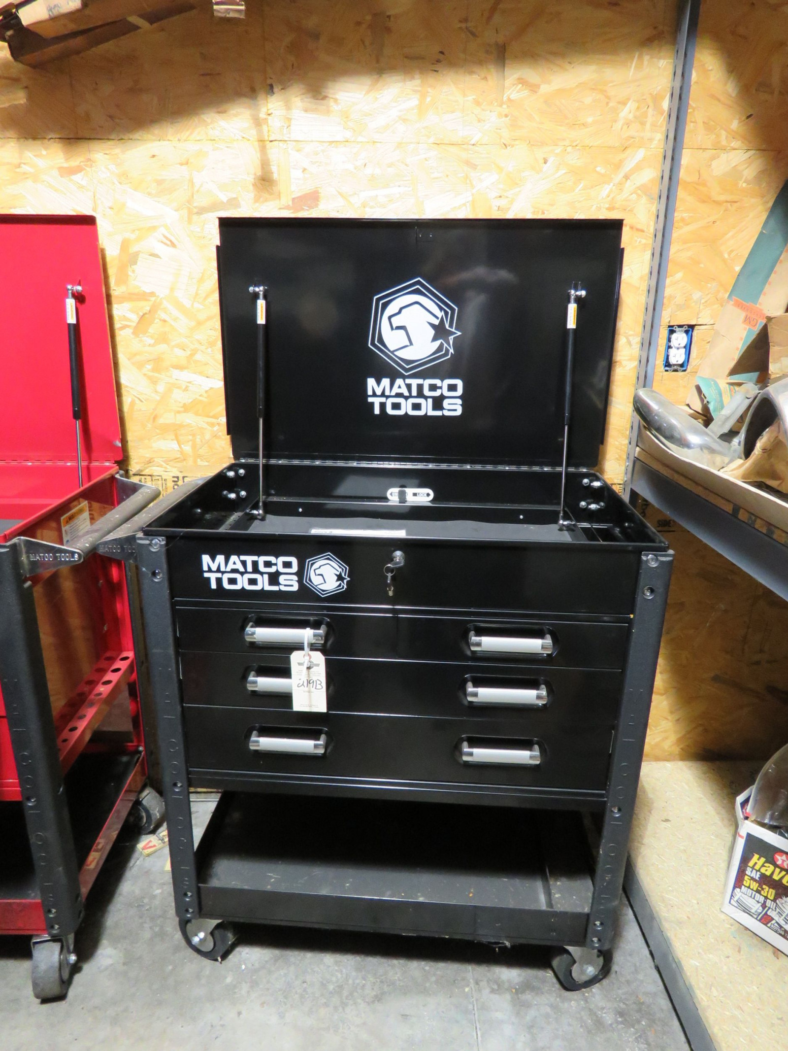 Lot 219B – Matco NEW Tool Box  Top Compartment with locking