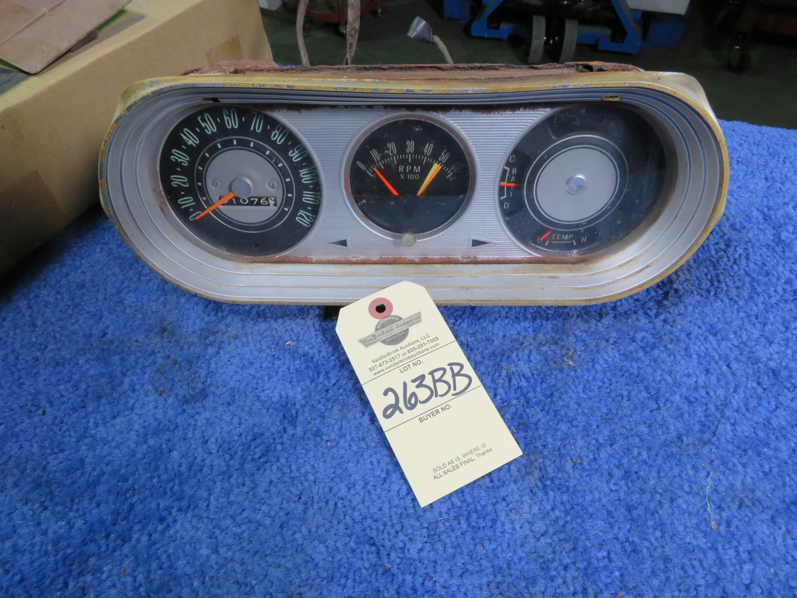 1965 Chervrolet Nova  Gauge Cluster and Tach- 1 year only - Image 1