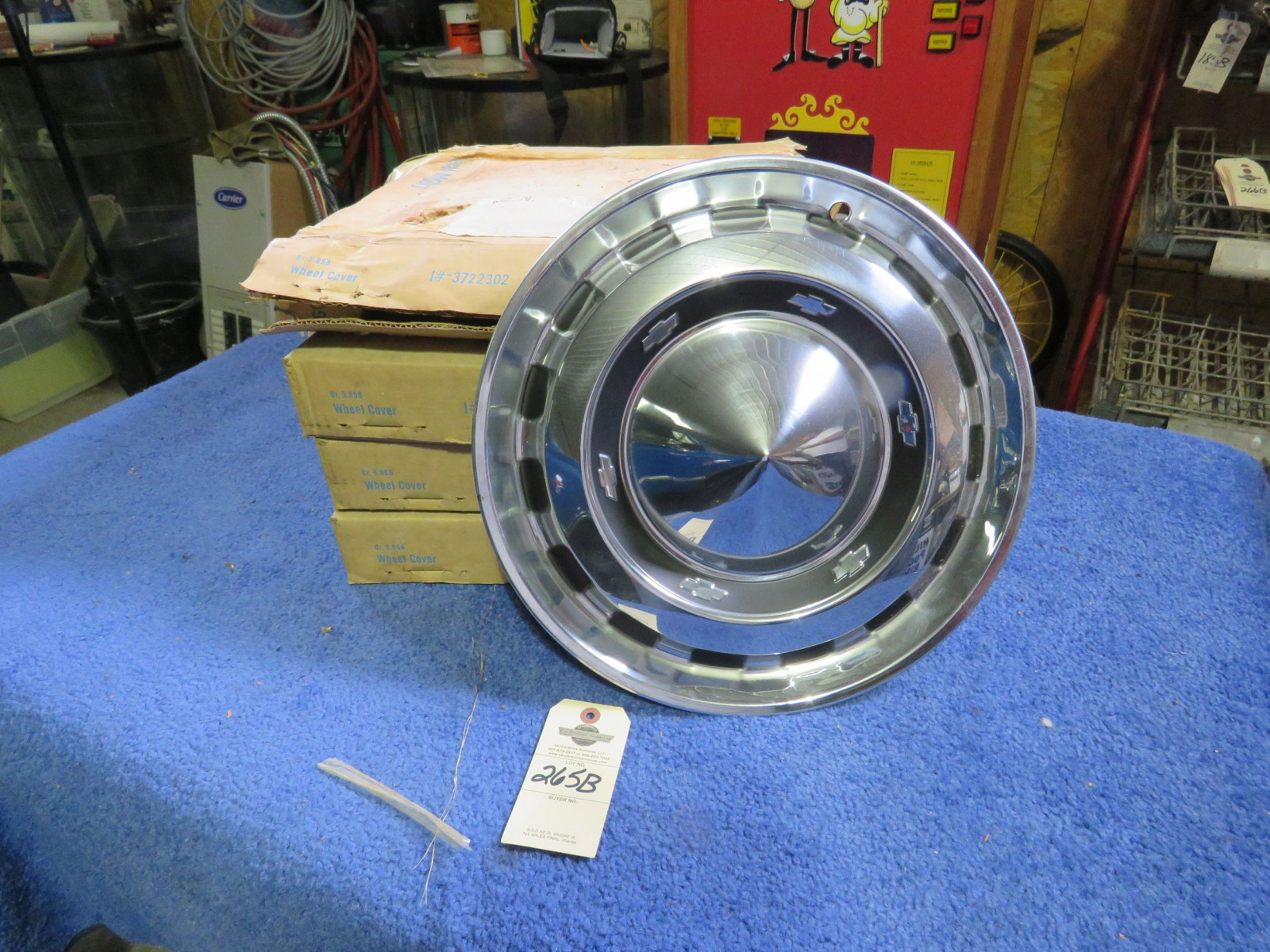 NOS 1956 Chevrolet Hubcaps - Image 1
