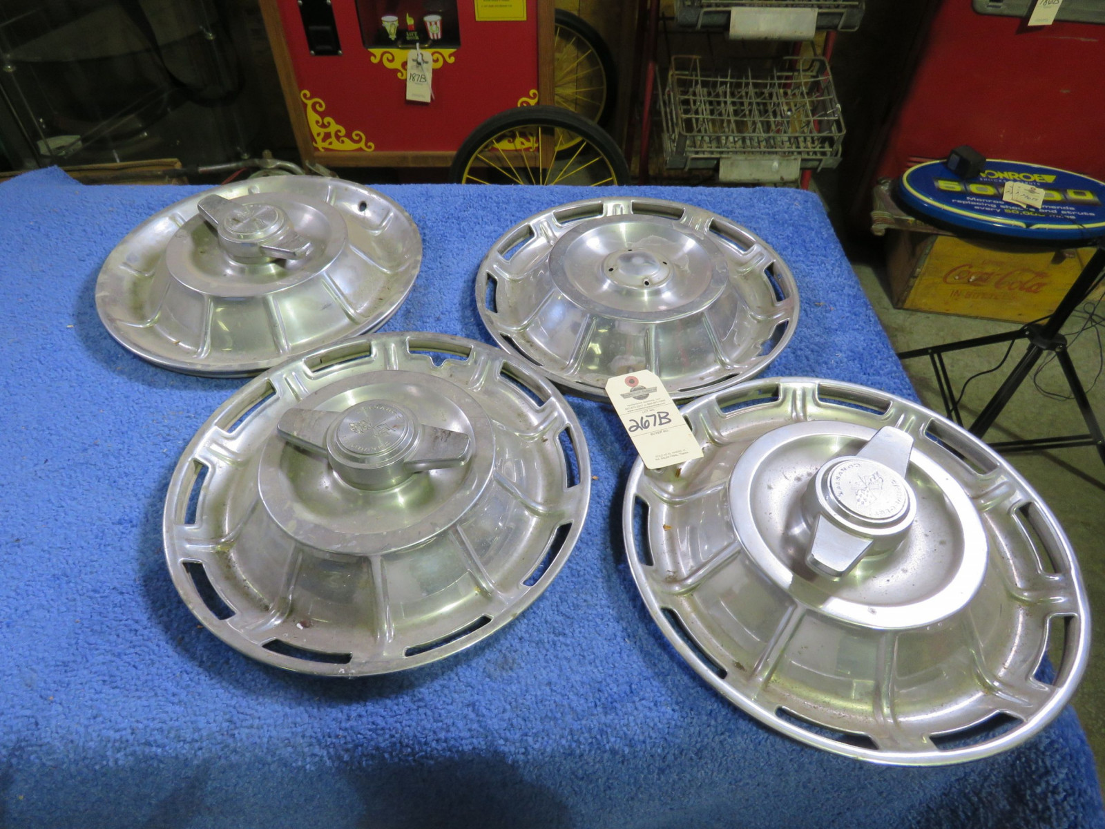 1957 Chevrolet 4 Hubcaps Used - Image 1