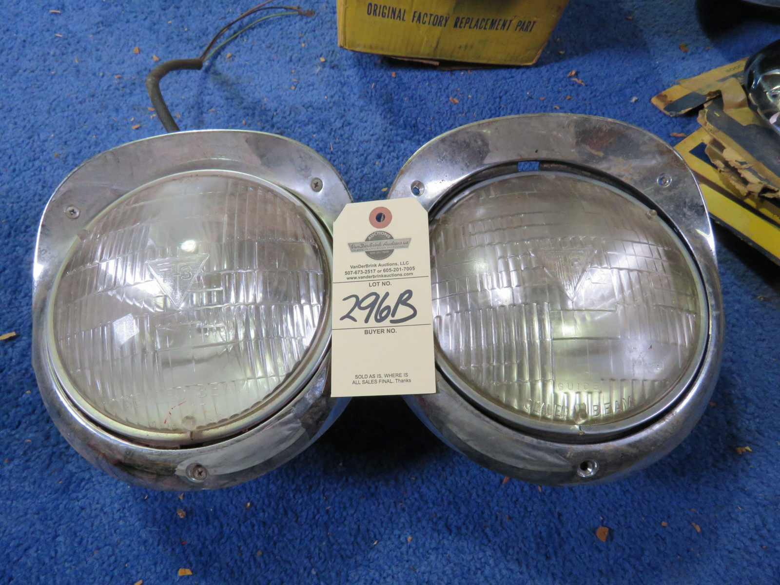 1956 Chevrolet T3 Headlights - Image 1