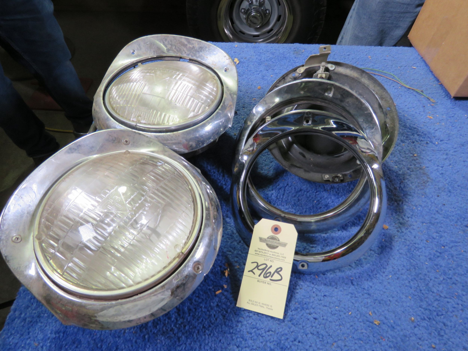 1956 Chevrolet T3 Headlights - Image 3