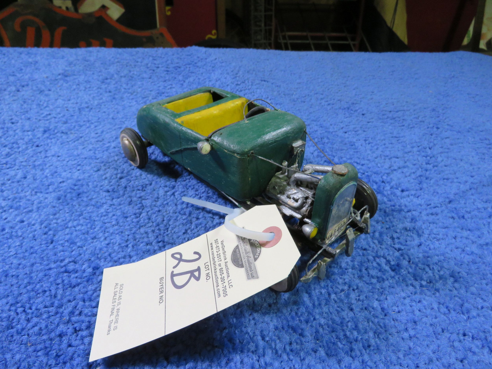 Vintage Hommade Wood Hot Rod Toy - Image 1