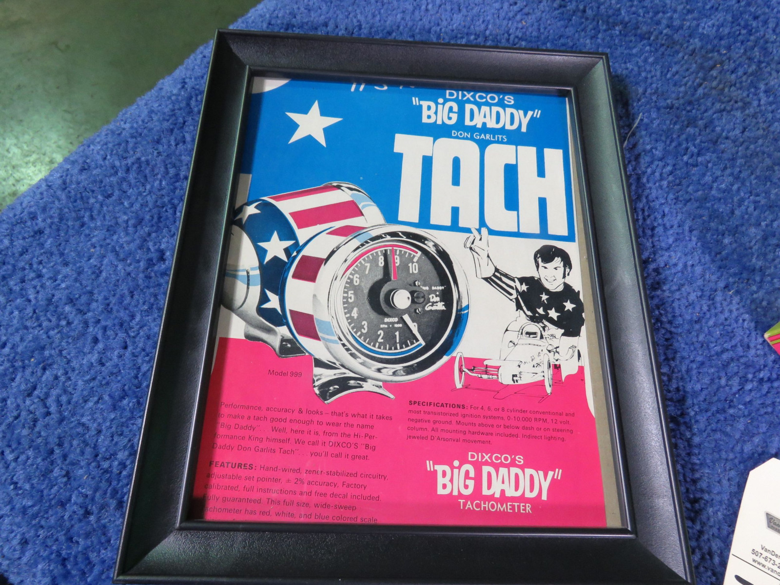 Big Daddy Don Garlitts Dixco Tach with Advertising NIB - Image 2