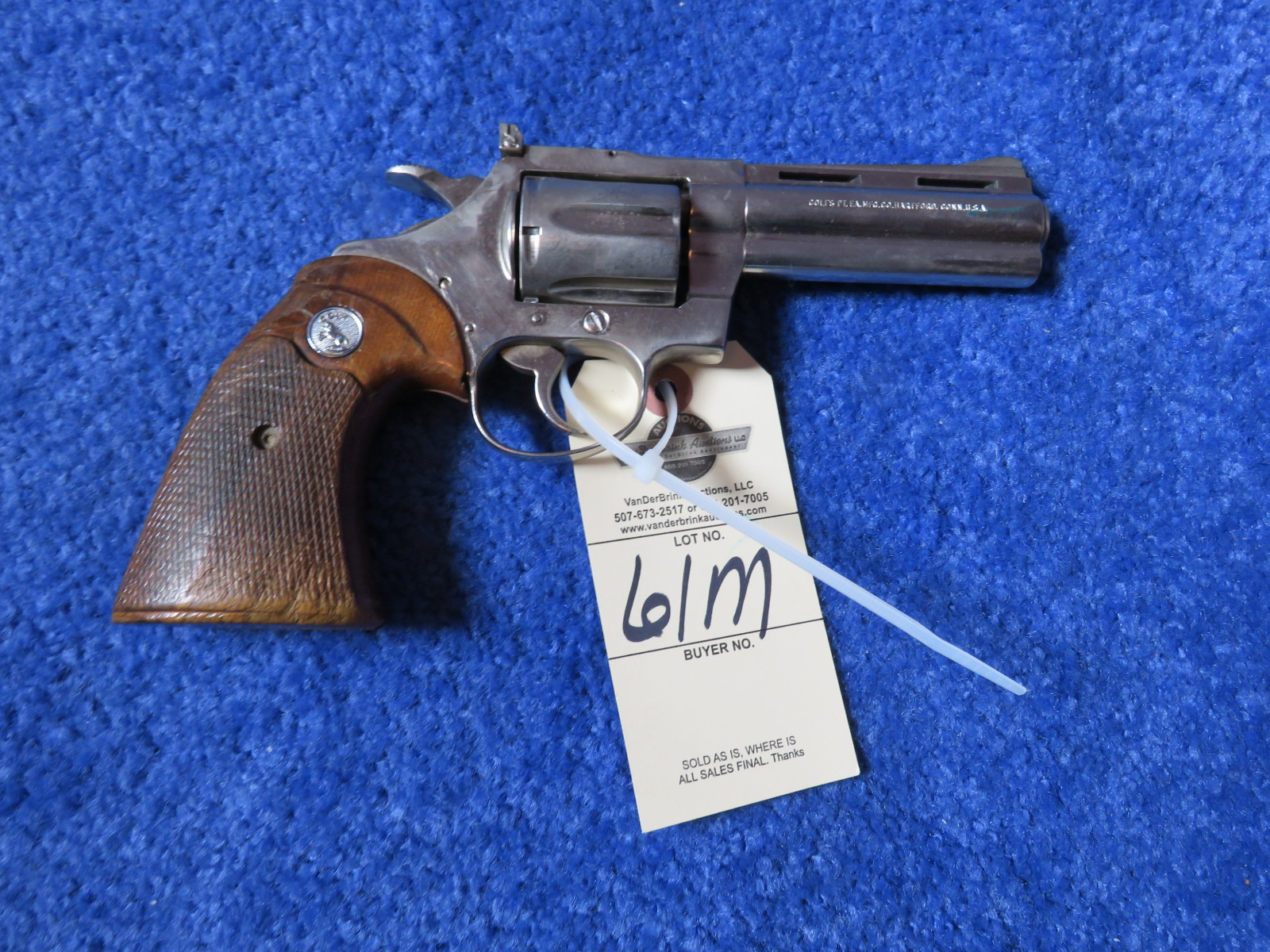 Colt Diamond Back .38 Special CTG Handgun - Image 2