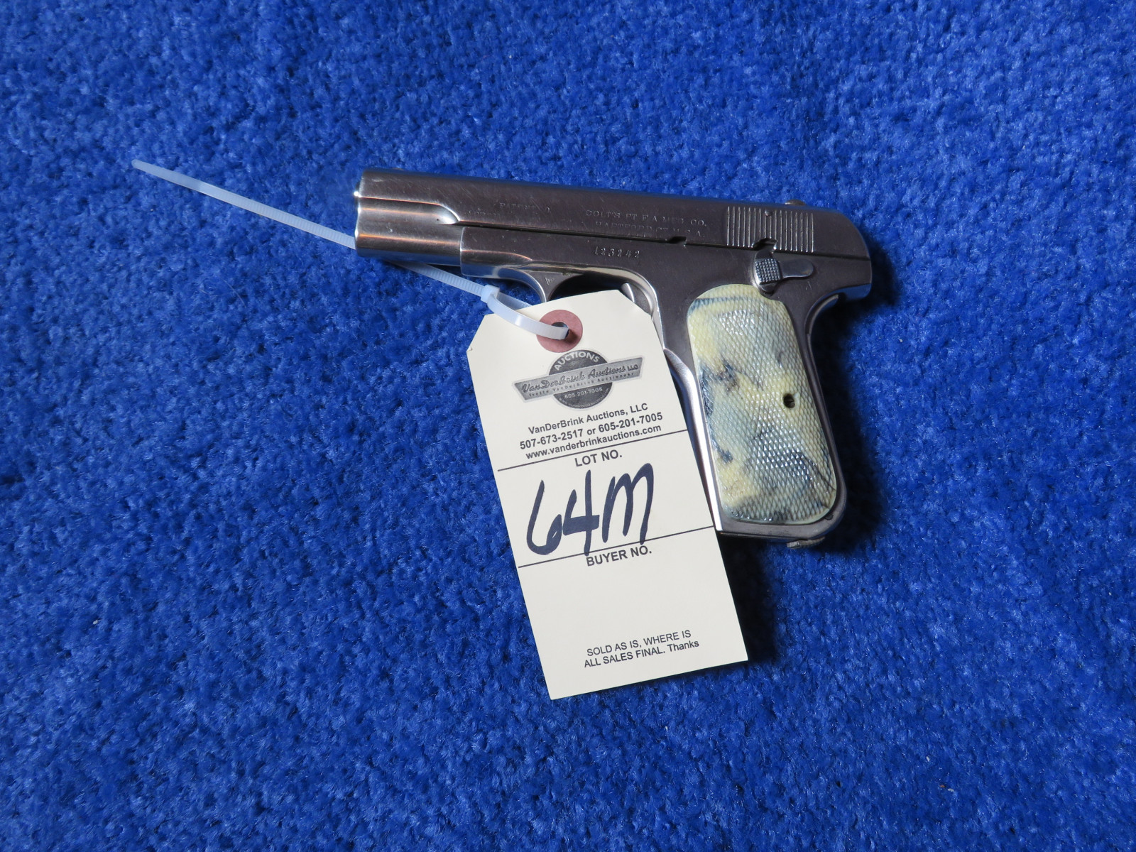 Colt Pocket Positive .32 Cal Semi-Auto Handgun - Image 2