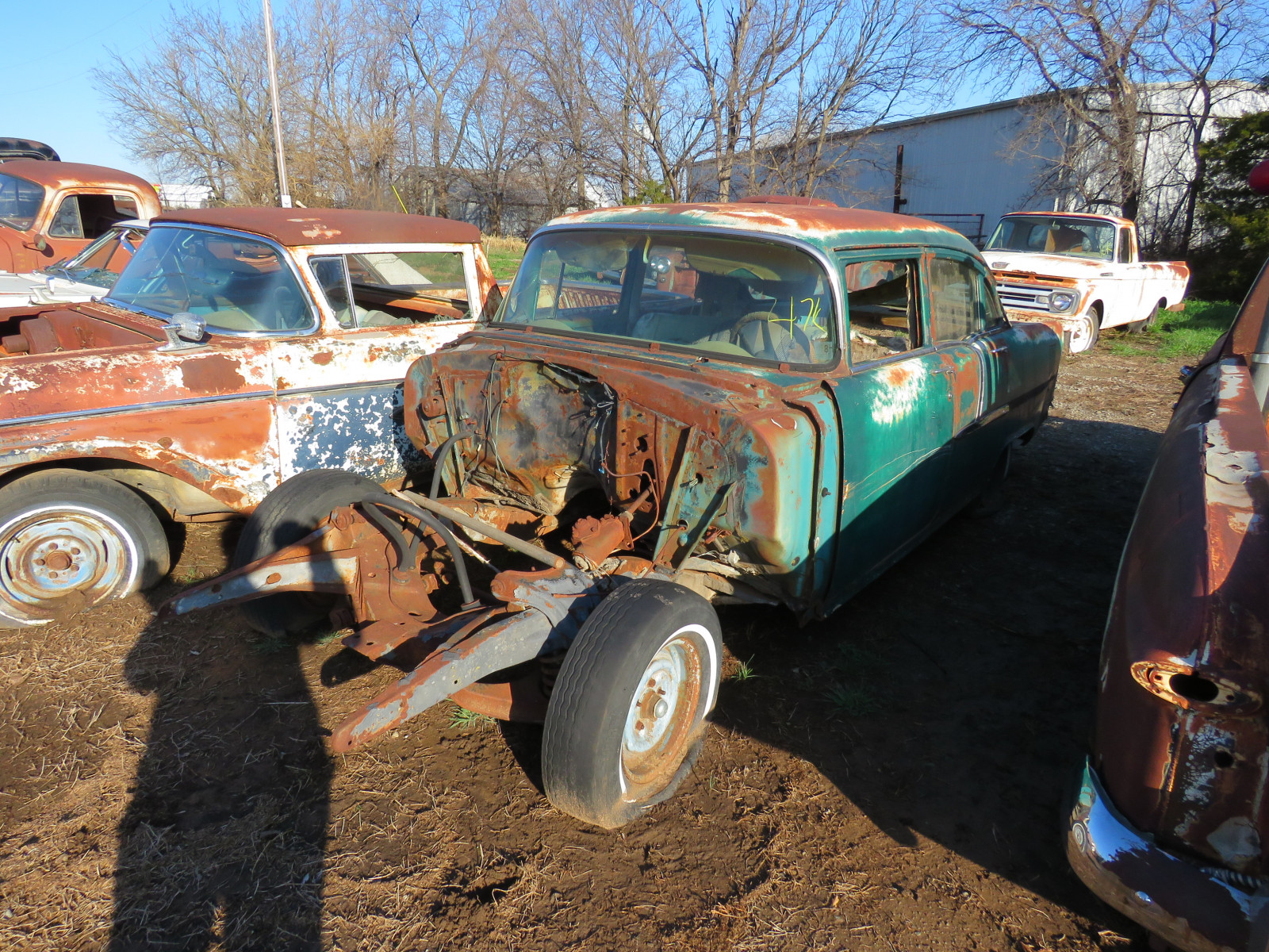 1955 Chevrolet 4dr Sedan for parts - Image 1