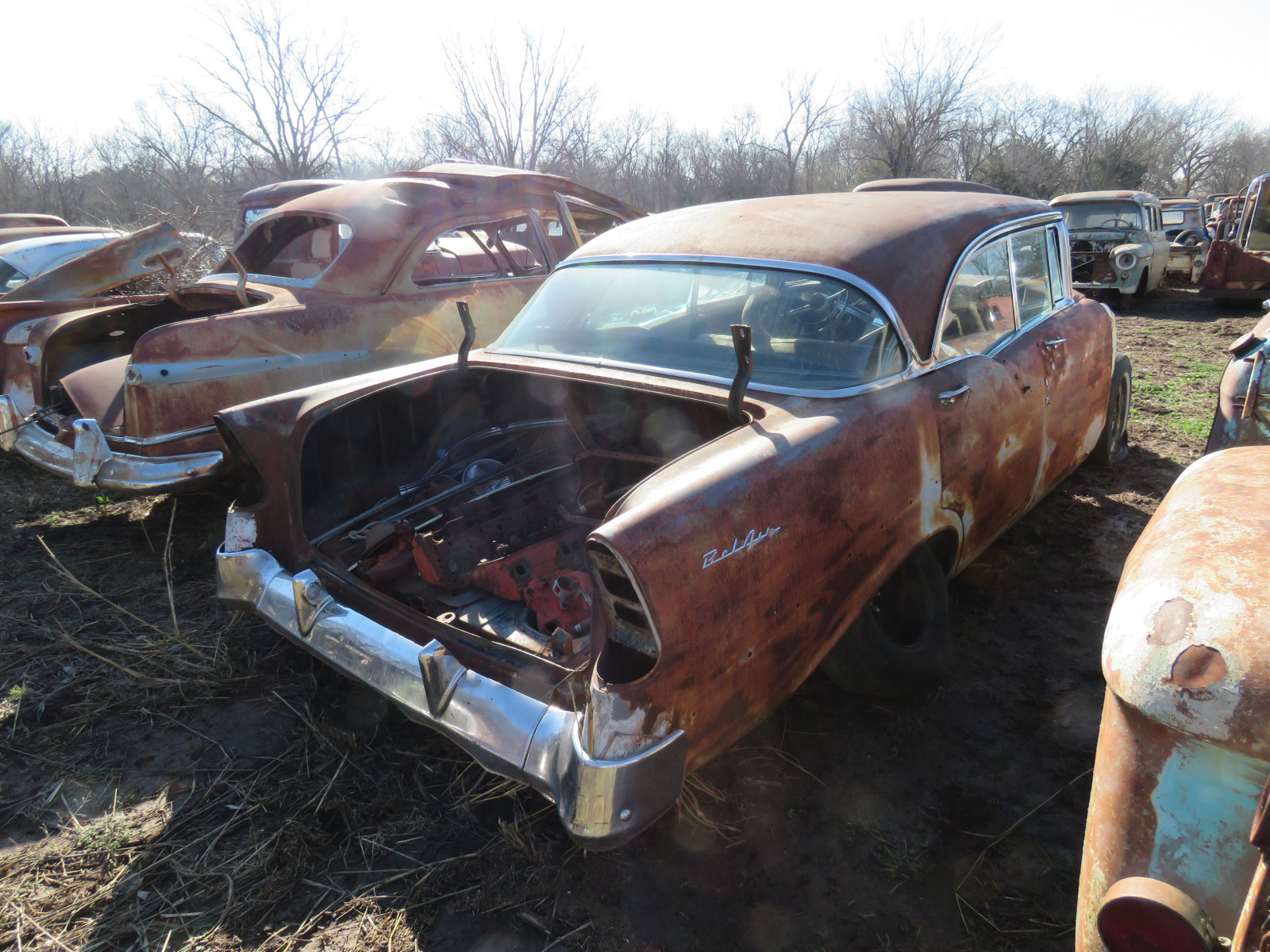1956 Belair Shell for parts - Image 3