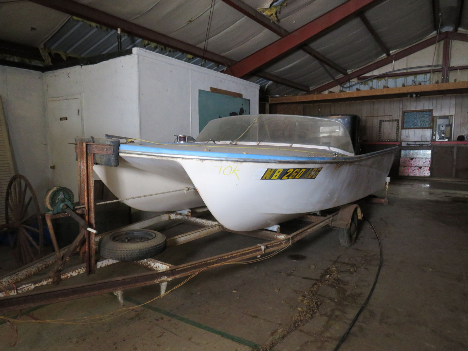 Vintage Power Cat Boat - Image 1