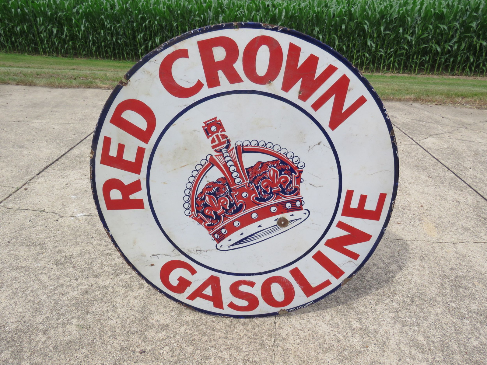 Red Crown DS 42 inch Porcelain Sign - Image 1