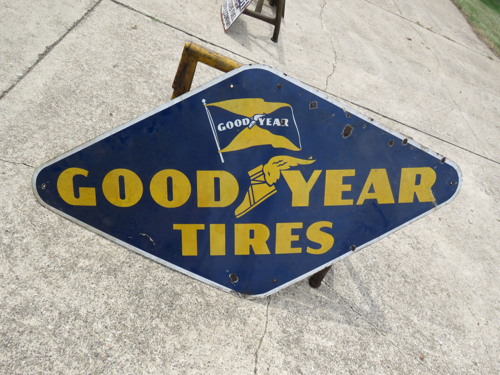 Goodyear Tires Porcelain Sign - Image 1