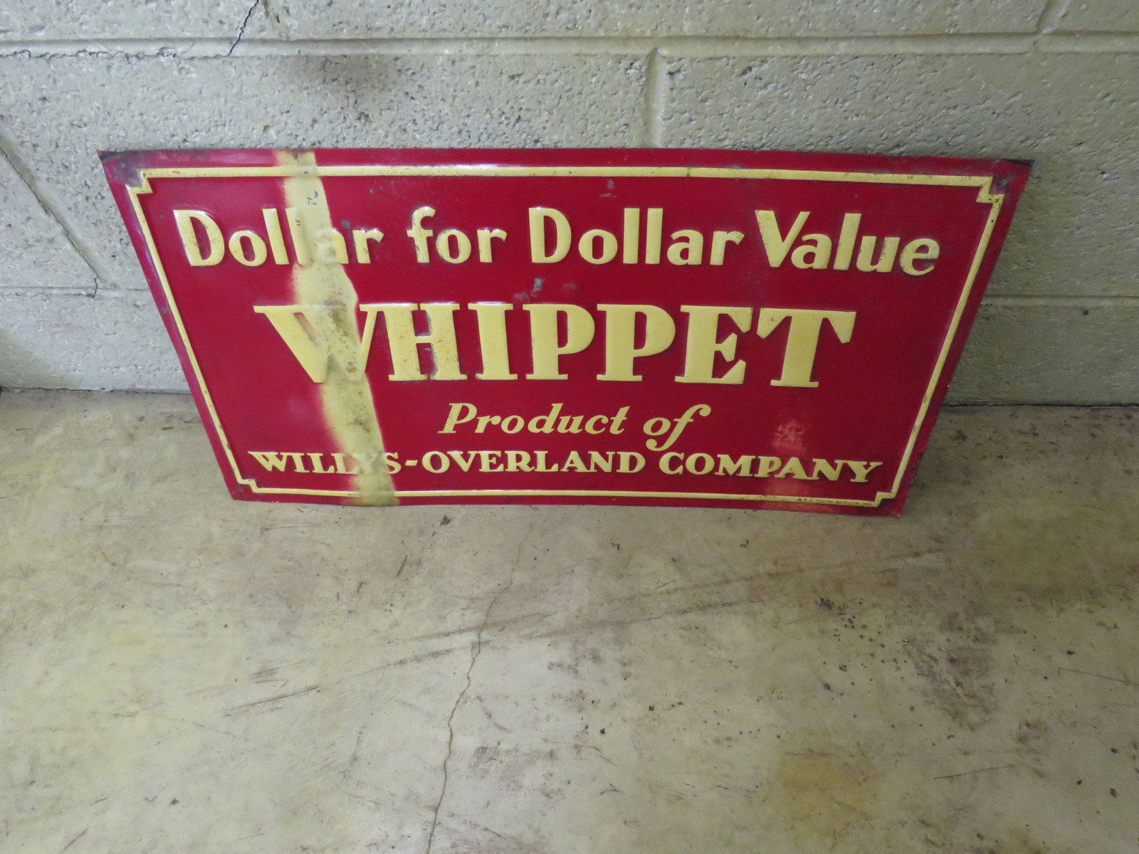 Whippett Painted Tin Sign - Image 1