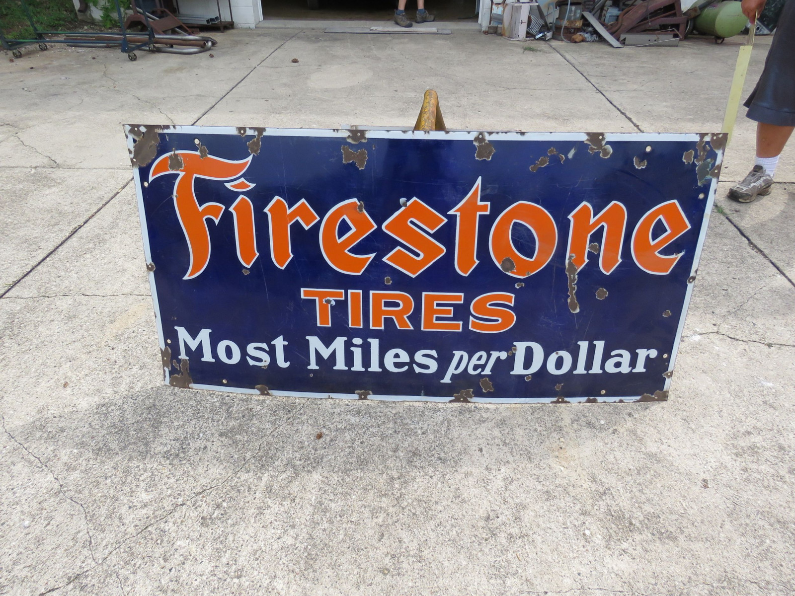 Firestone Tires Porcelain Sign - Image 1