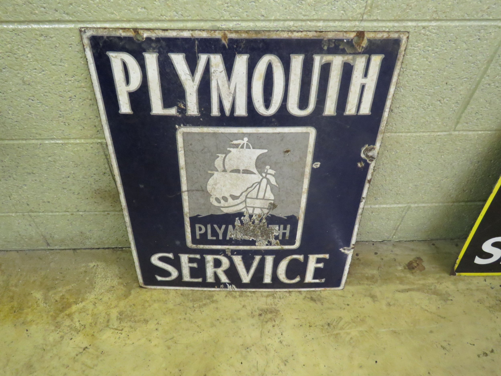 Plymouth Service Porcelain Sign - Image 2