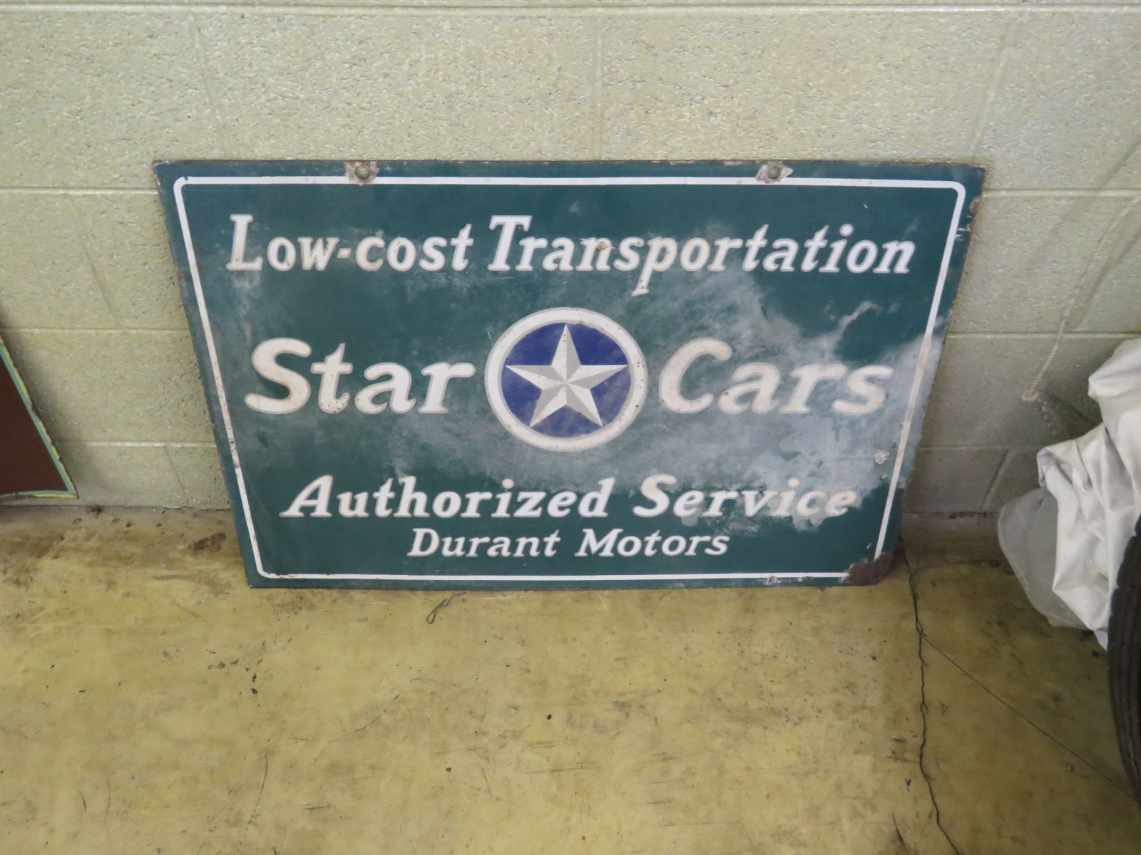 Star Cars-Durant Cars Porcelain Sign - Image 2
