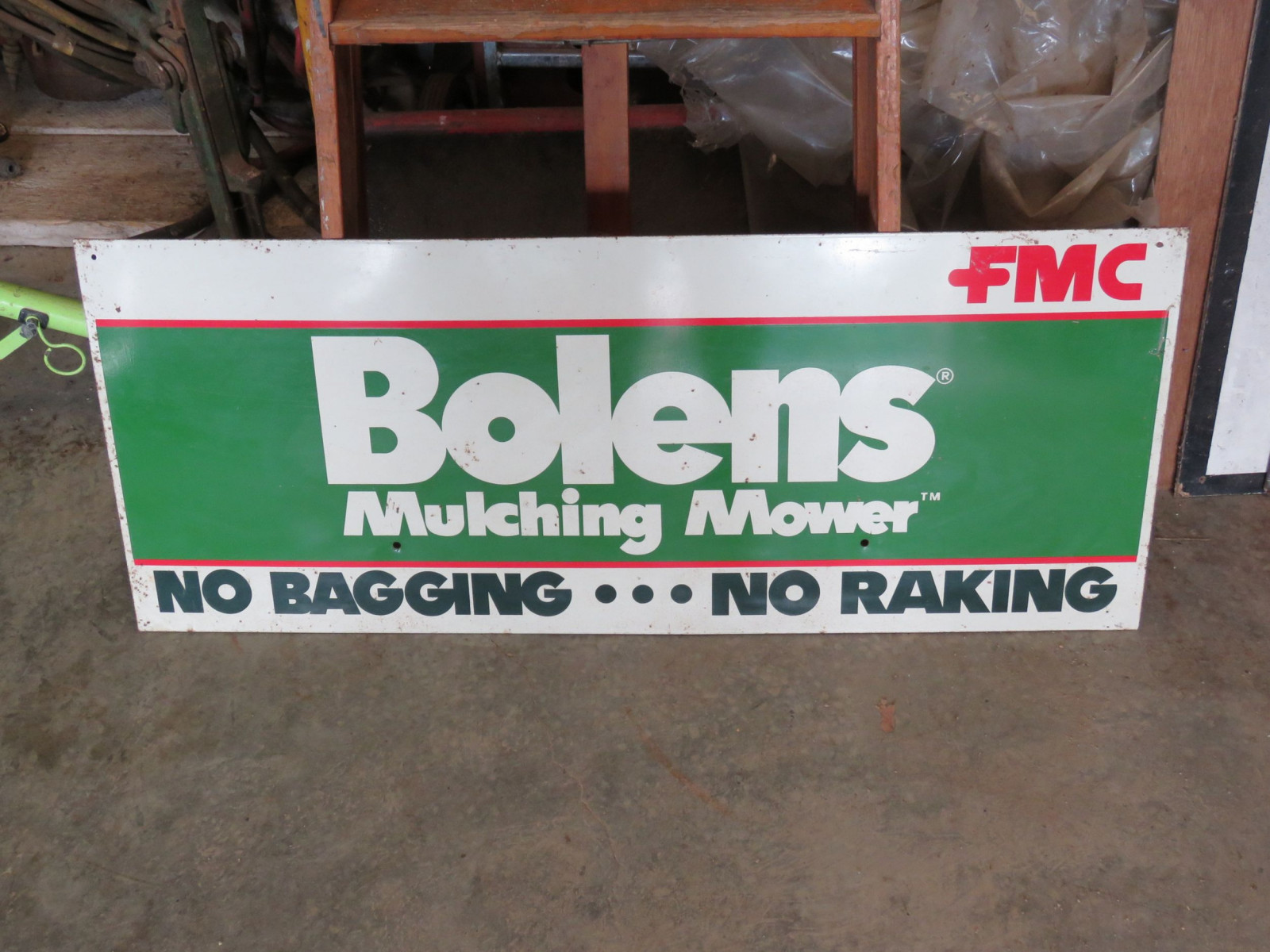 Bolens FMC Painted Tin Sign - Image 1