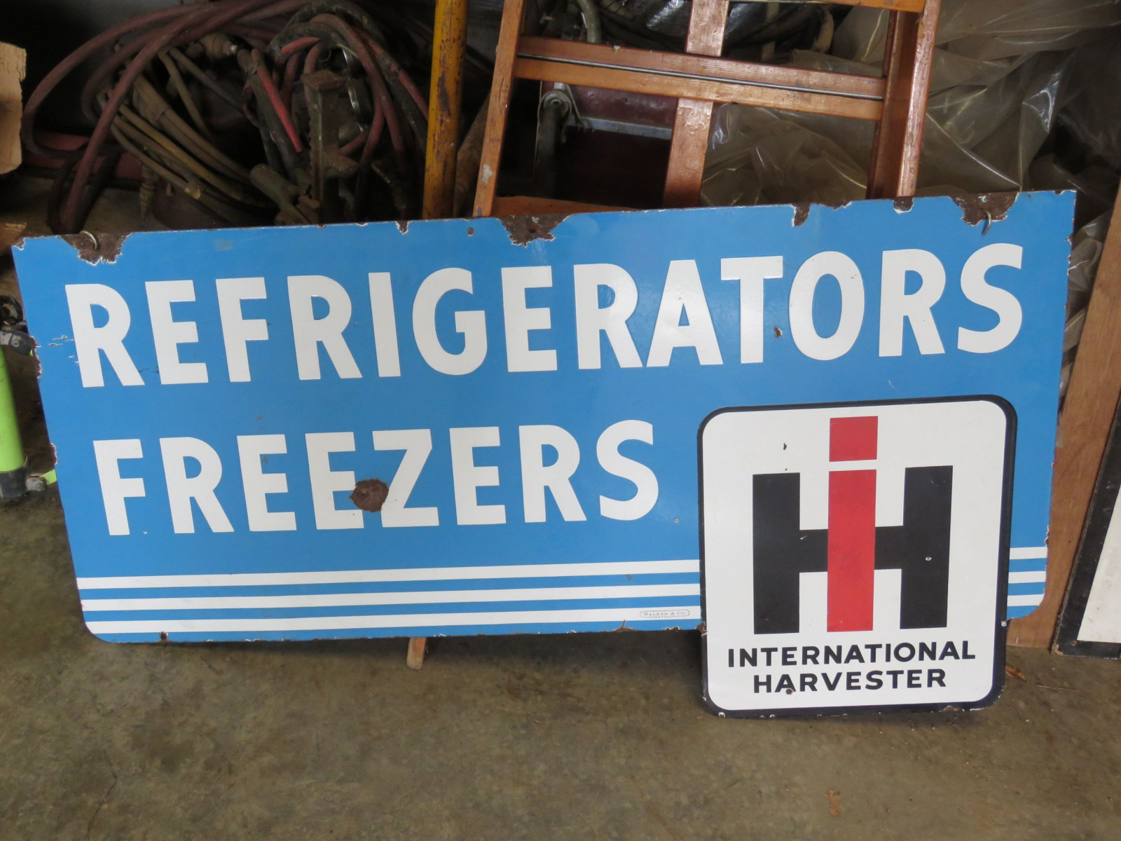 International Refrigerators Porcelain Sign - Image 1