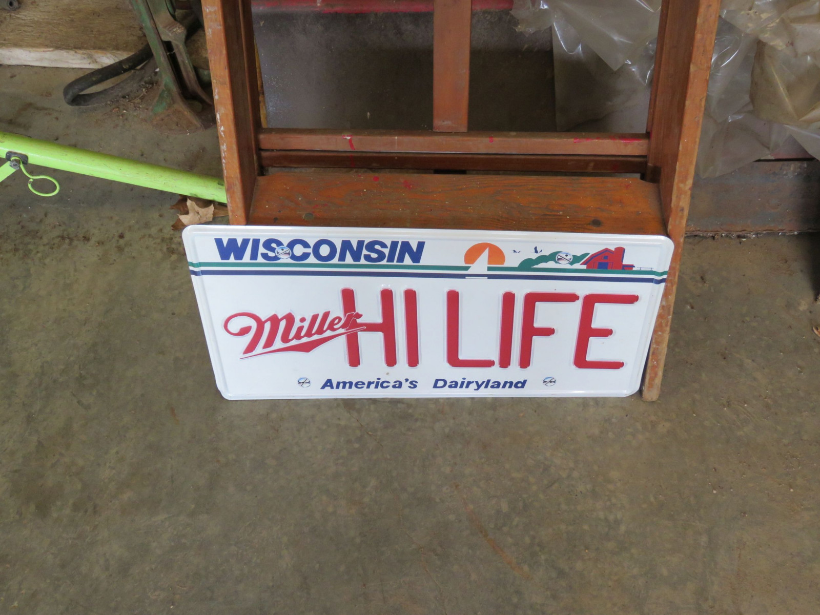 Miller High Life Single Sided Pressed Tin Sign - Image 1